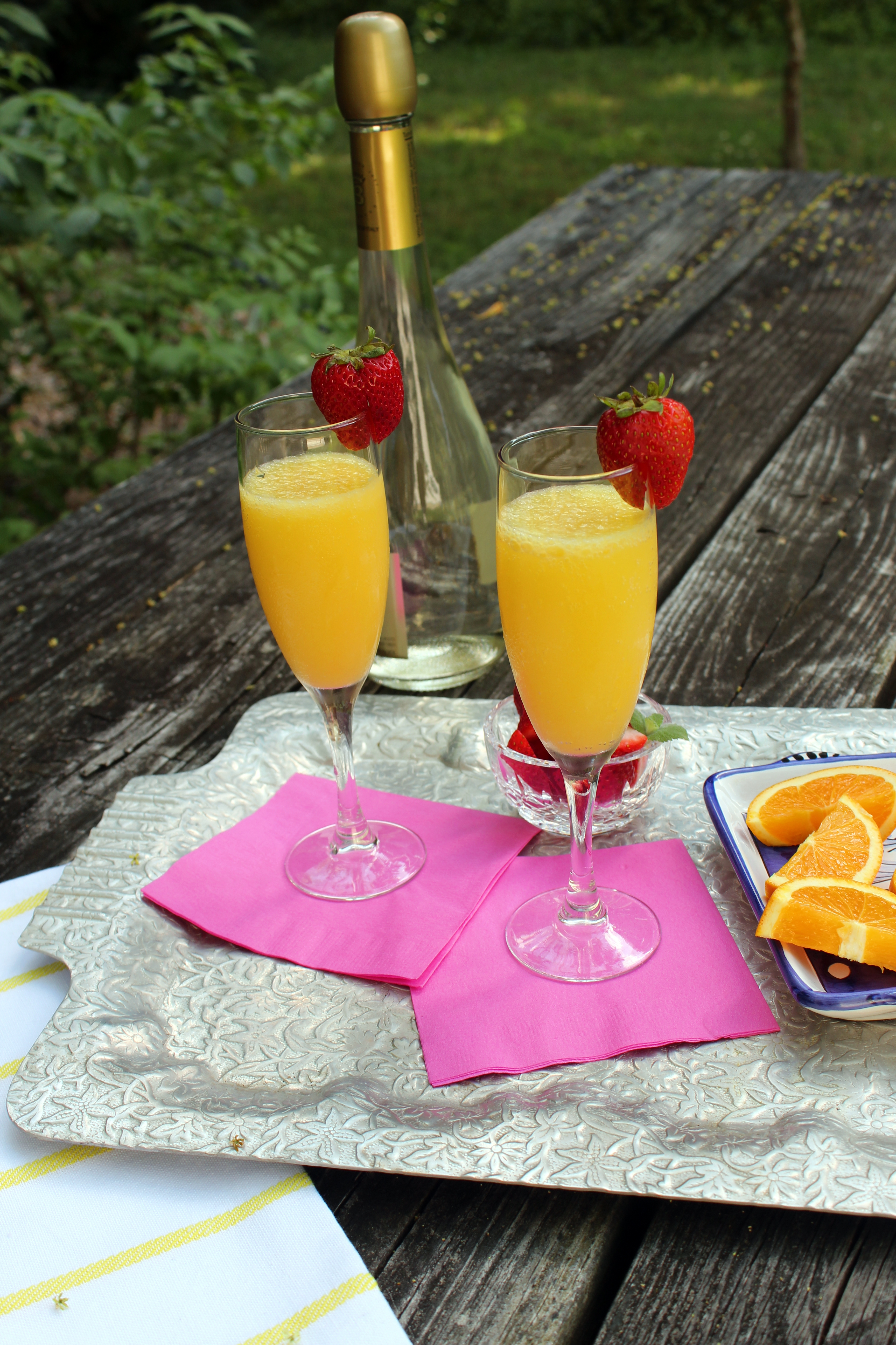 Strawberry-Pineapple Mimosas