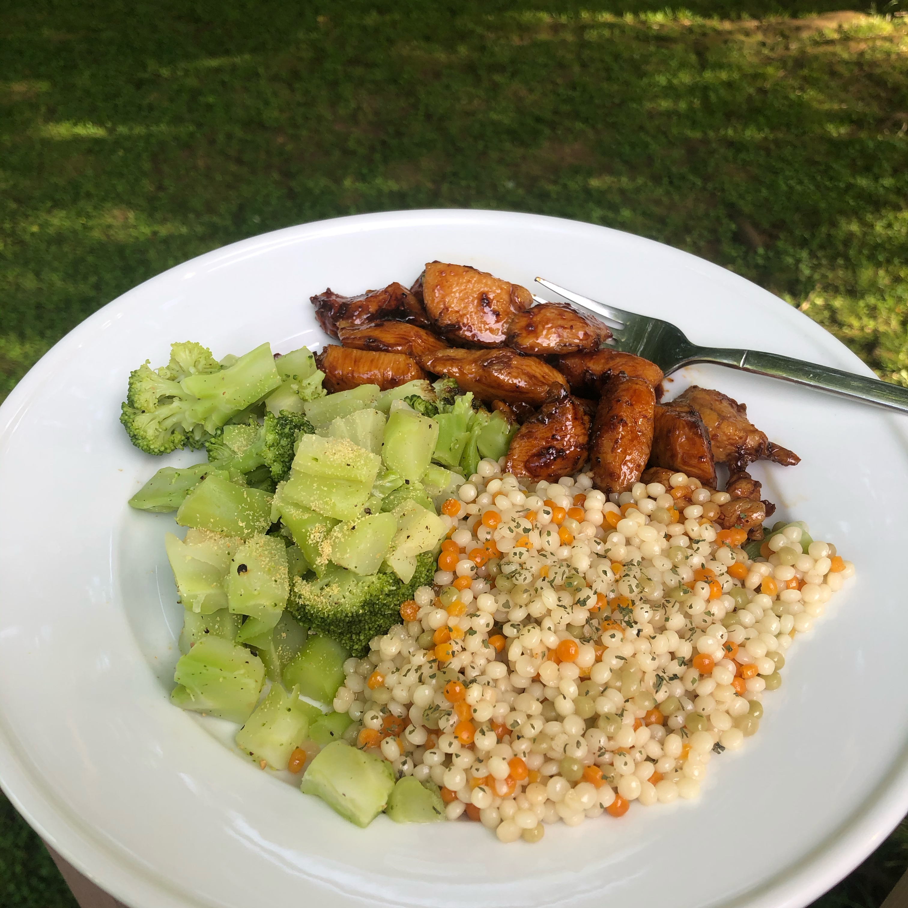 Sweet Chili Lime Chicken with Cilantro Couscous Kristen Combs
