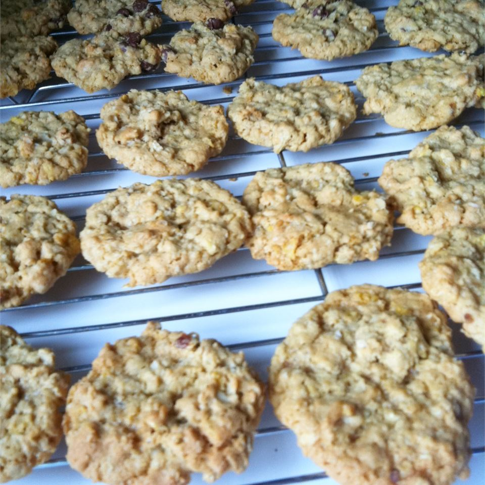 Why are they called Ranger Cookies? We're not really sure, but the combination of cornflakes, oats, and coconut is a winner. Recipe reviewer Dr. Cyndi says the recipe is a family favorite, and recommends adding raisins and doubling the recipe during the holidays so there's enough to share with friends.