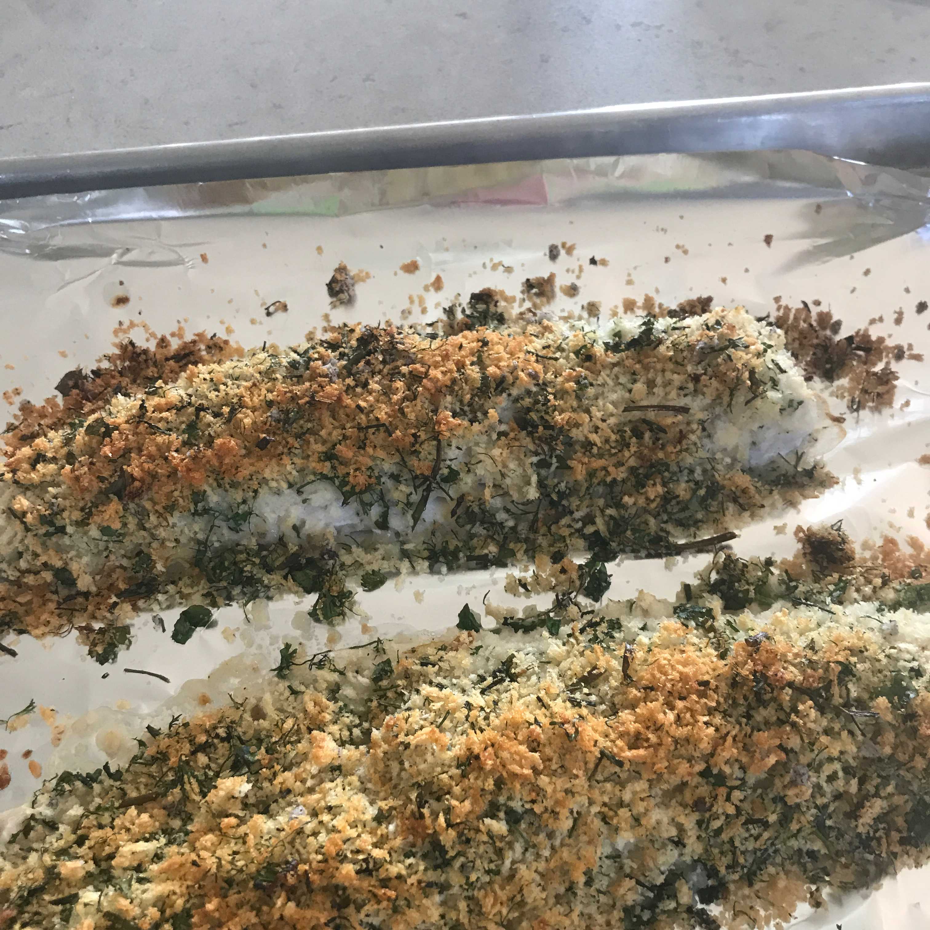 Herb Crusted Halibut TheBaker