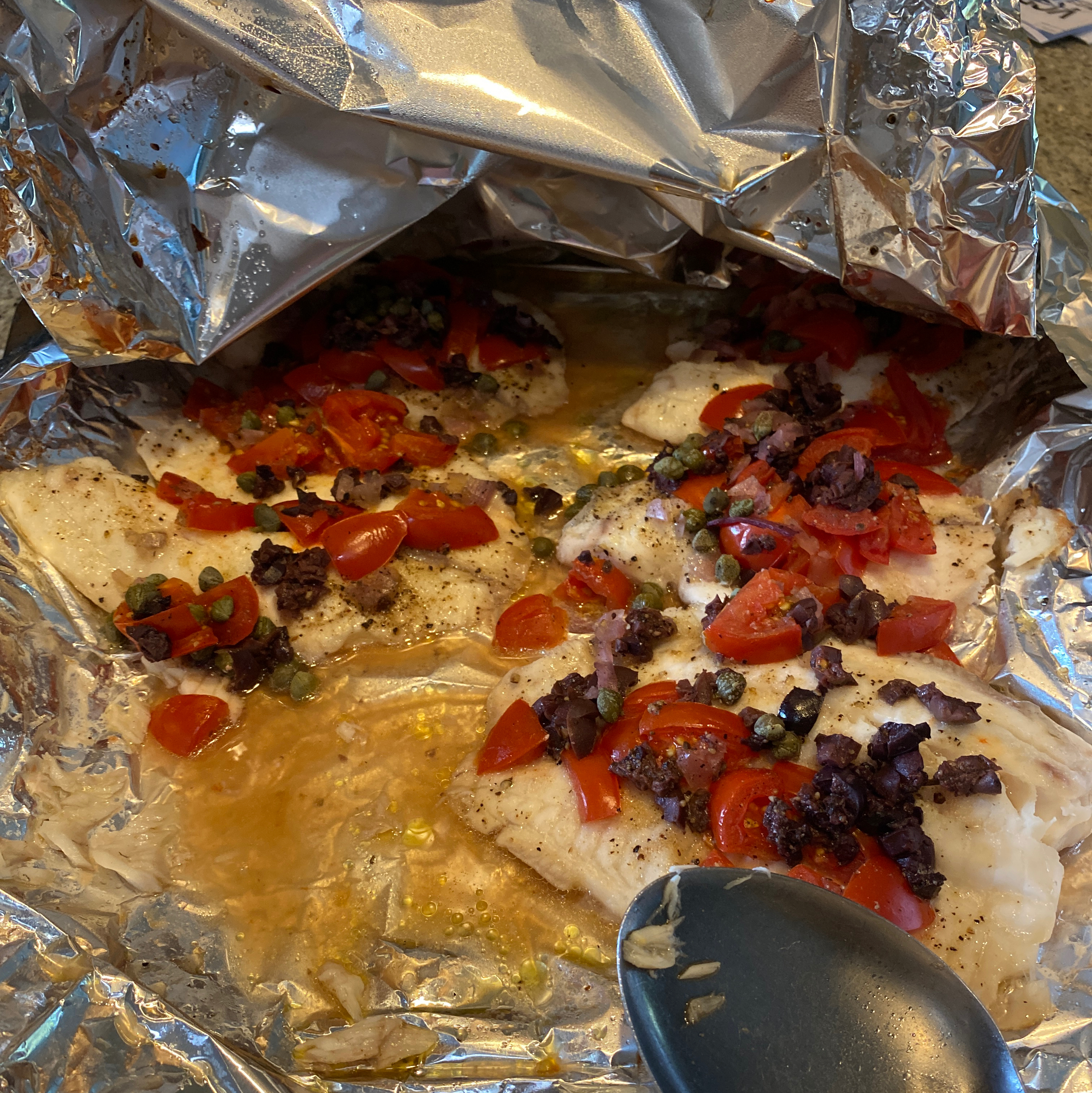 Grilled Tilapia with Tomato-Olive Tapenade pclemens