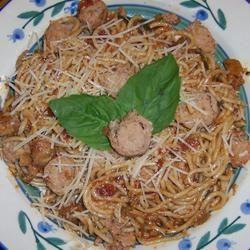 Pasta Primavera with Italian Turkey Sausage sparkybuddy56