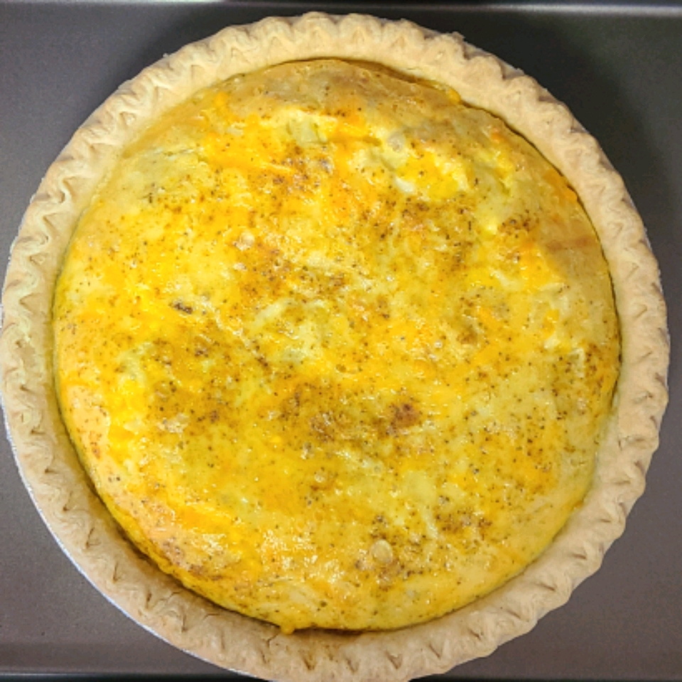 Crab and Cheddar Quiche