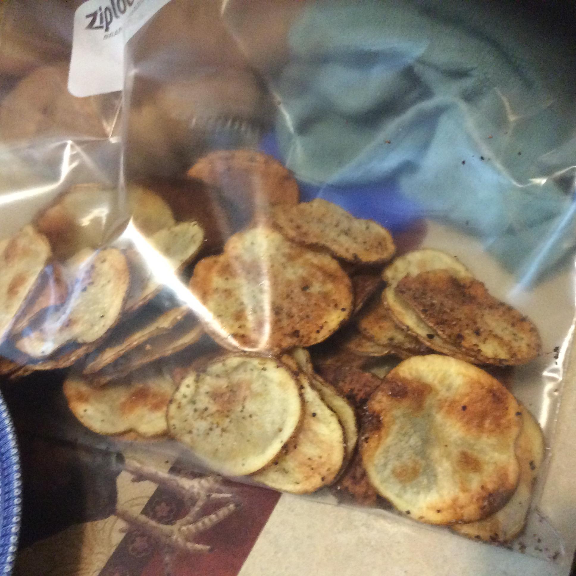 Baked Homemade Sweet Potato Chips Kat