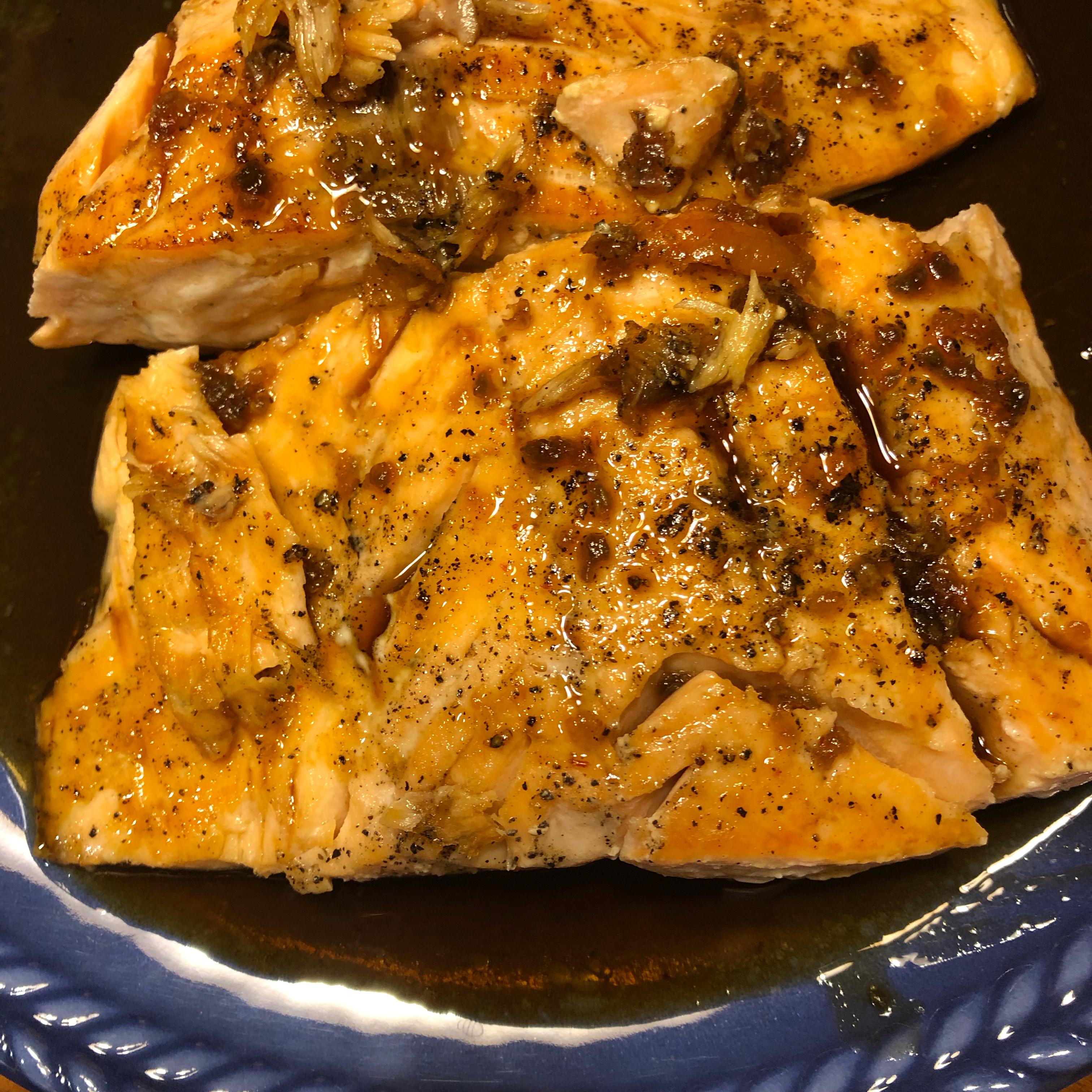 Honey Garlic Glazed Salmon cherr2j