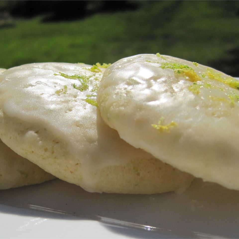 Spring Lime Tea Cookies