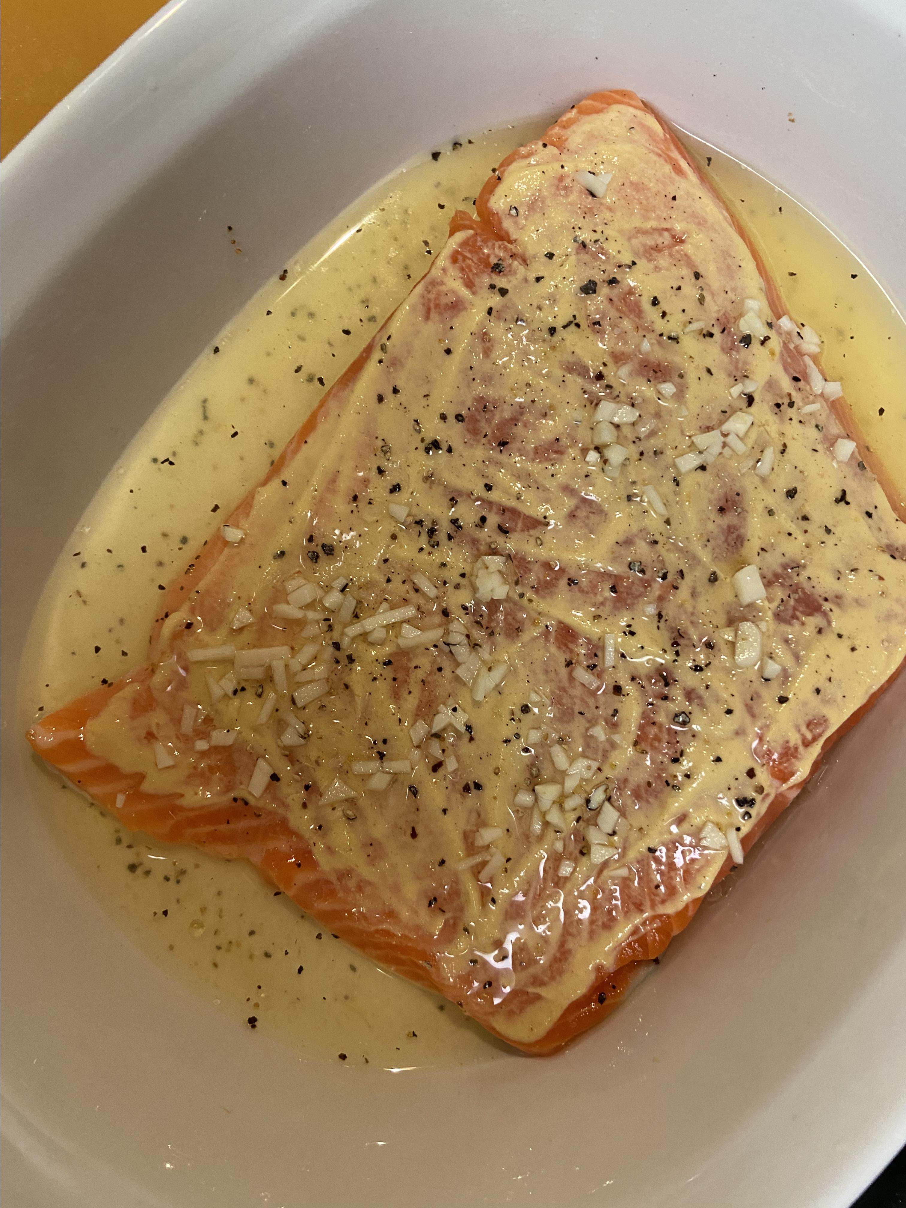 Steelhead Trout Bake with Dijon Mustard
