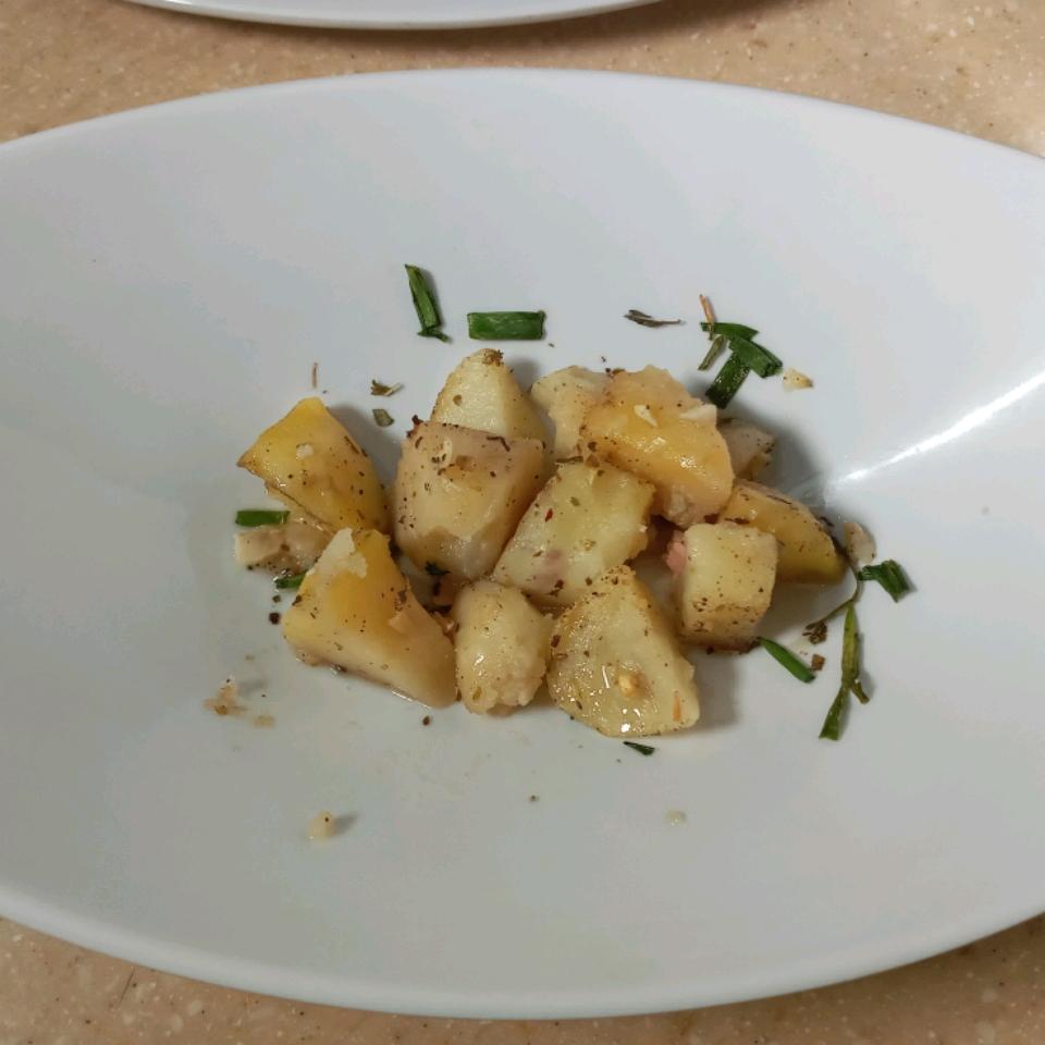 Greek Garlic-Lemon Potatoes Celeste Andrews