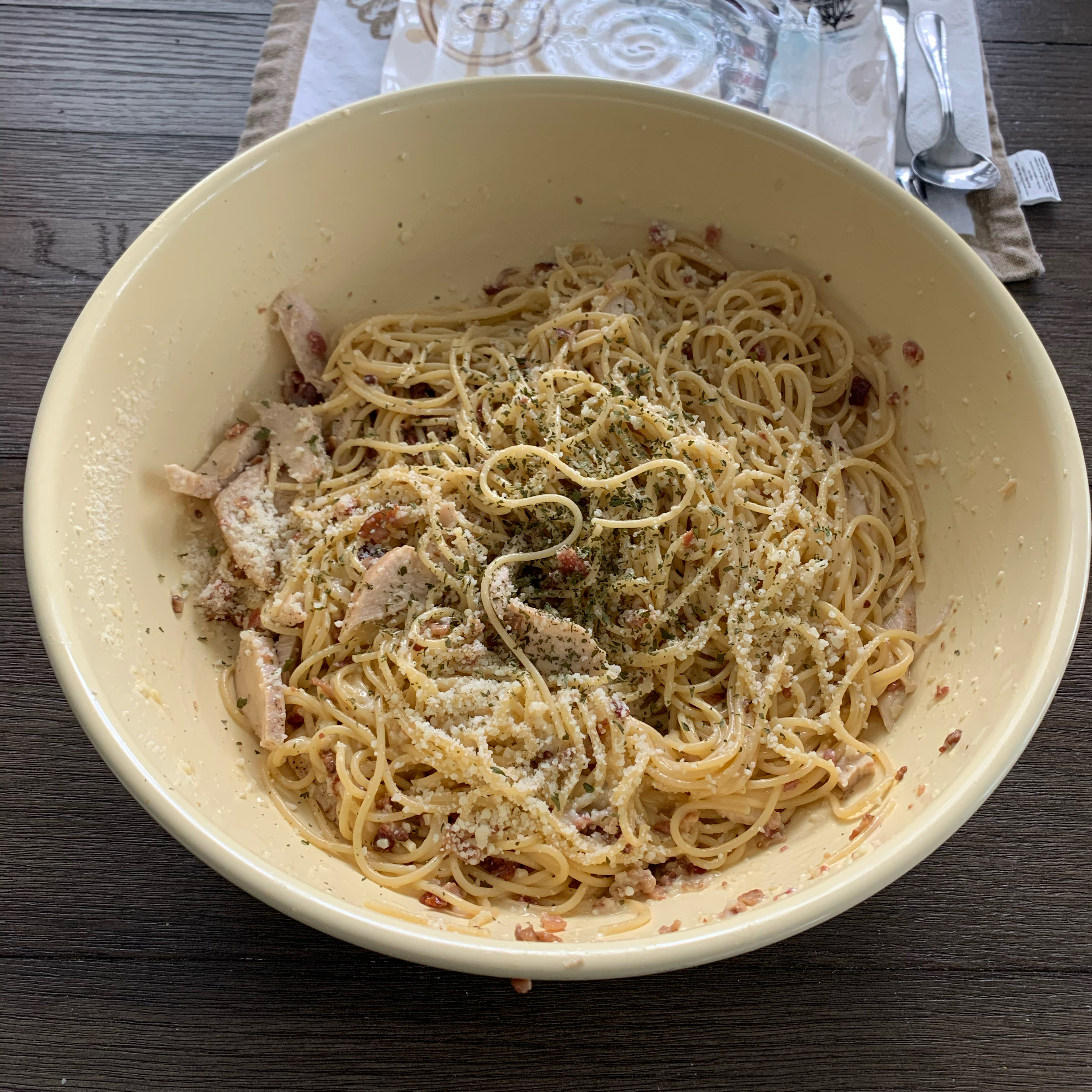 Chicken Carbonara with Creamy Parmesan Sauce