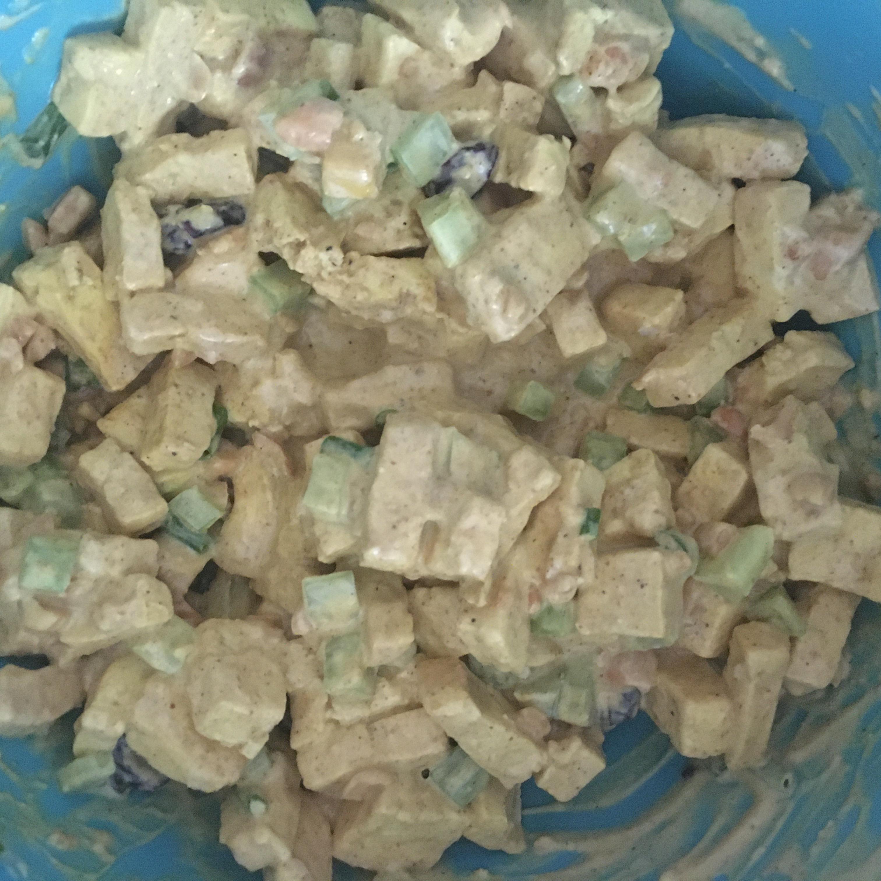 Fruited Tofu Curry Salad