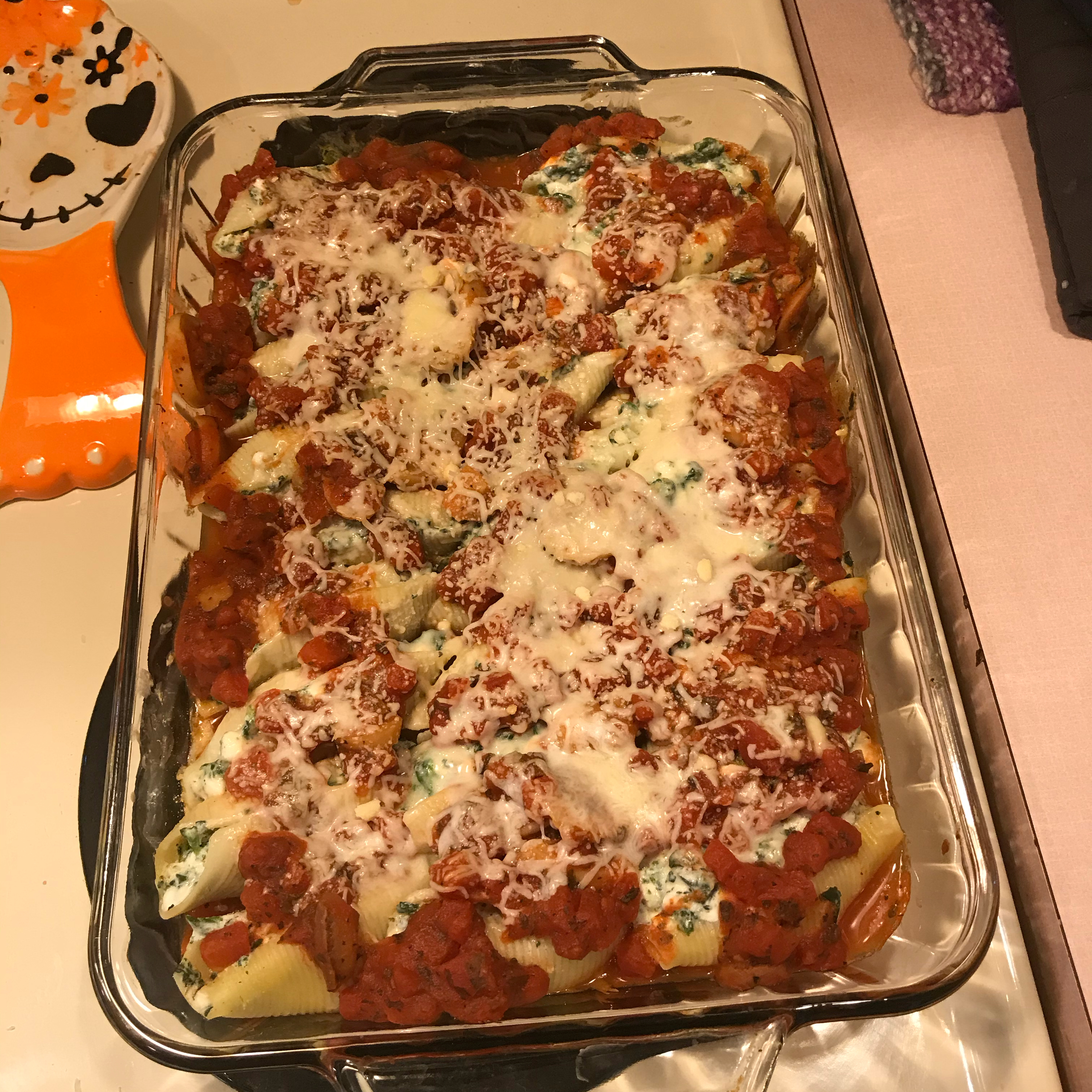 Stuffed Shells with Spinach, Ricotta, and Cottage Cheese Resa Jo