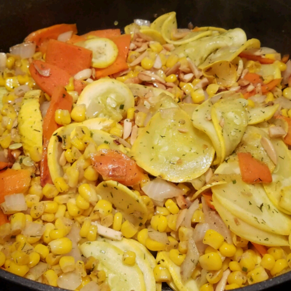 Sauteed Summer Squash with Almonds