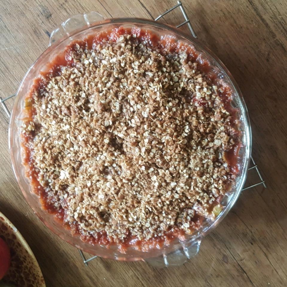 Low Sugar Strawberry Rhubarb Crunch Colleen Seal