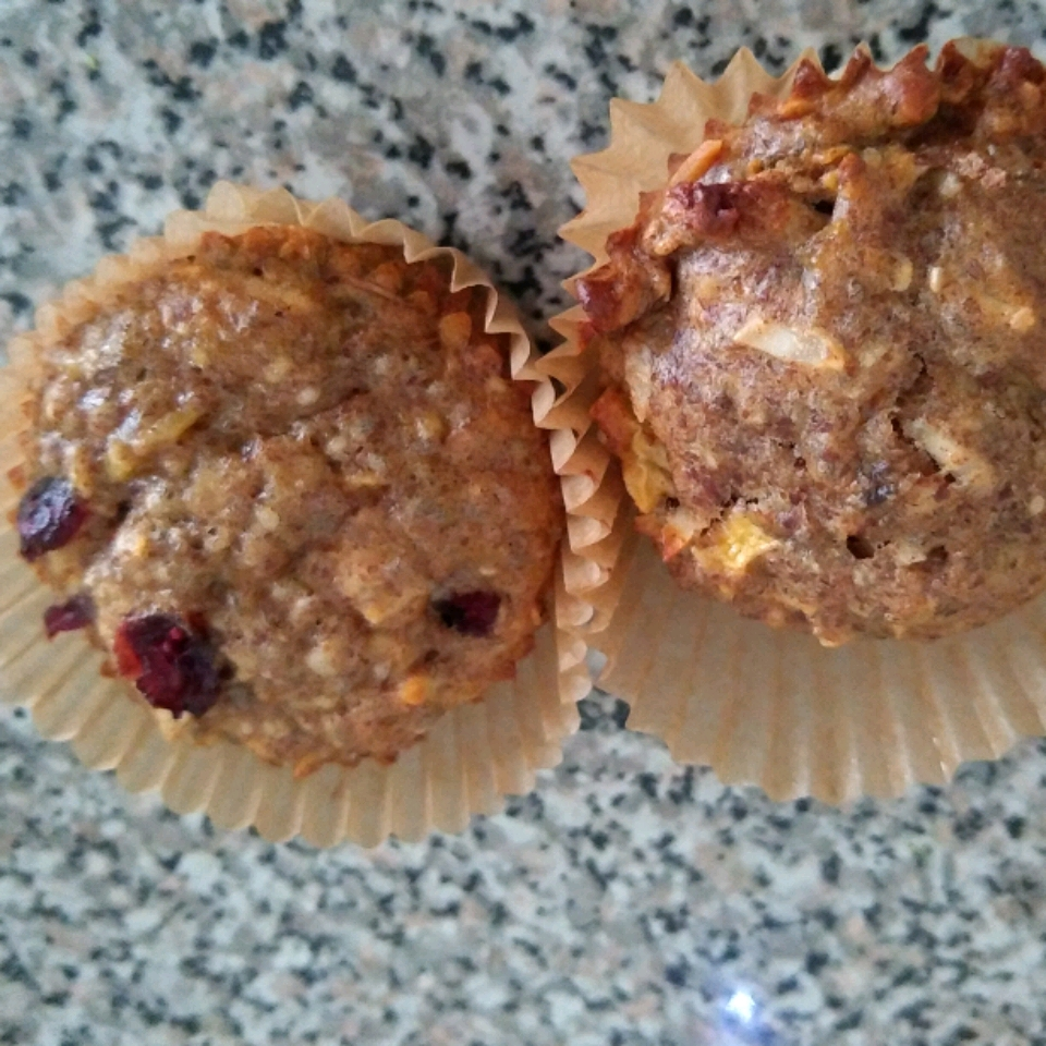 Banana Coconut Flaxseed Muffins with Apple and Chia