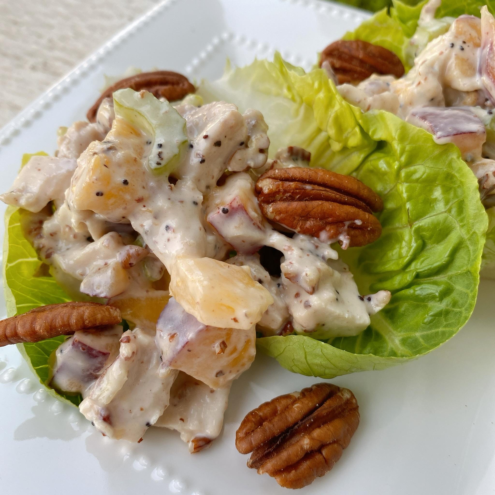 Fresh Peach and Pecan Chicken Salad