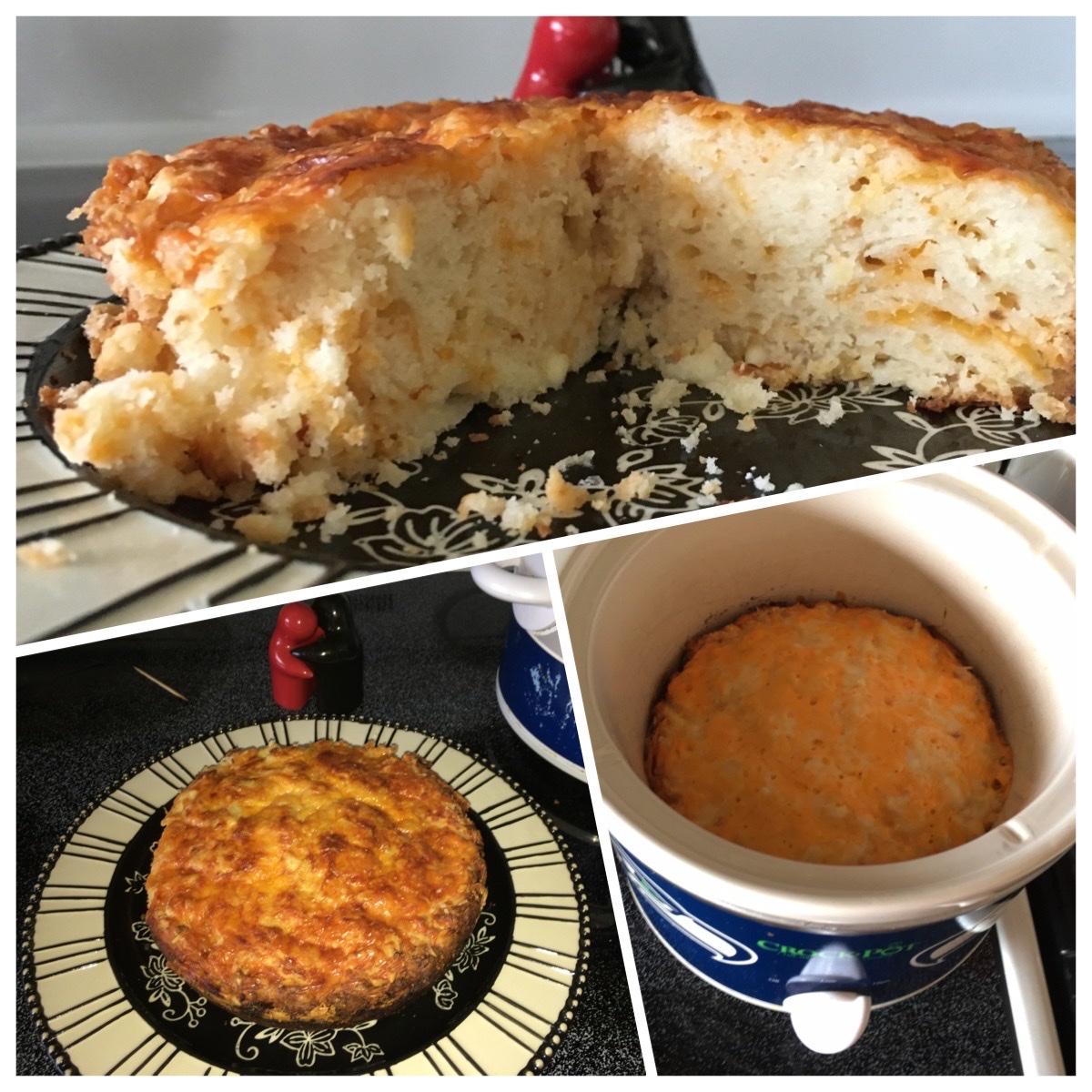 Slow Cooker Parmesan-Garlic Quick Bread