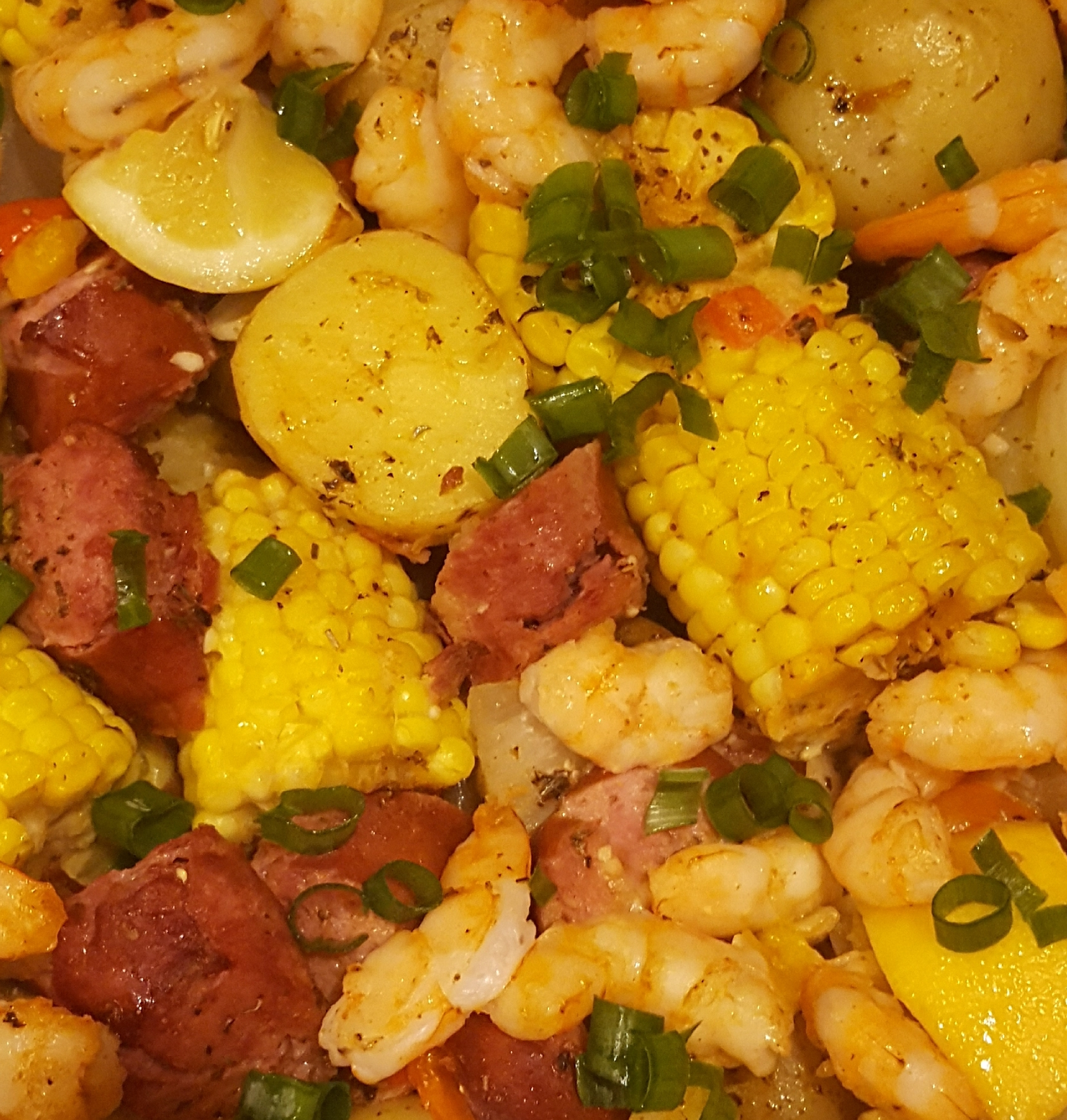 Sheet Pan Shrimp and Sausage Bake