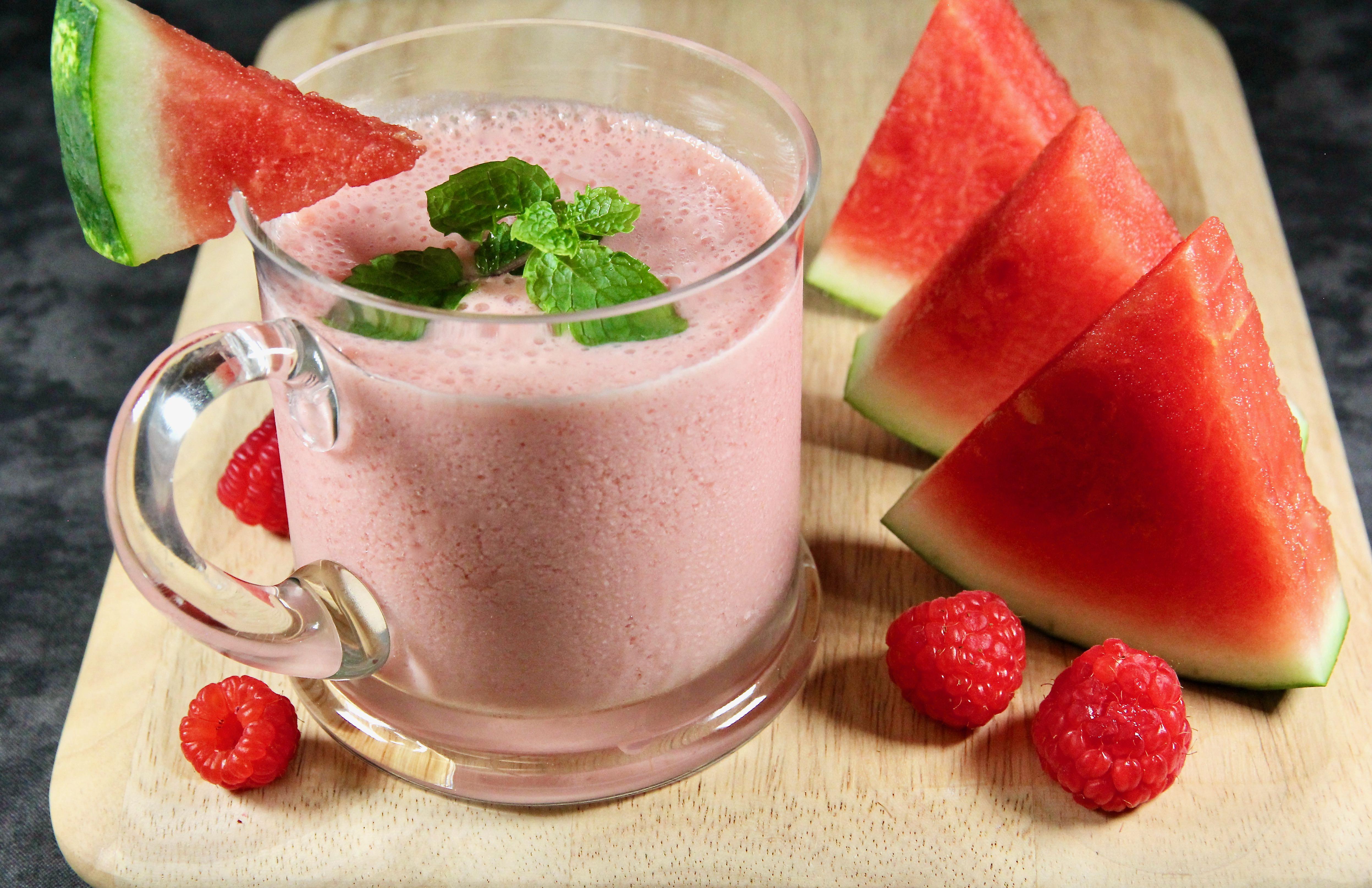 Watermelon-Raspberry Smoothie