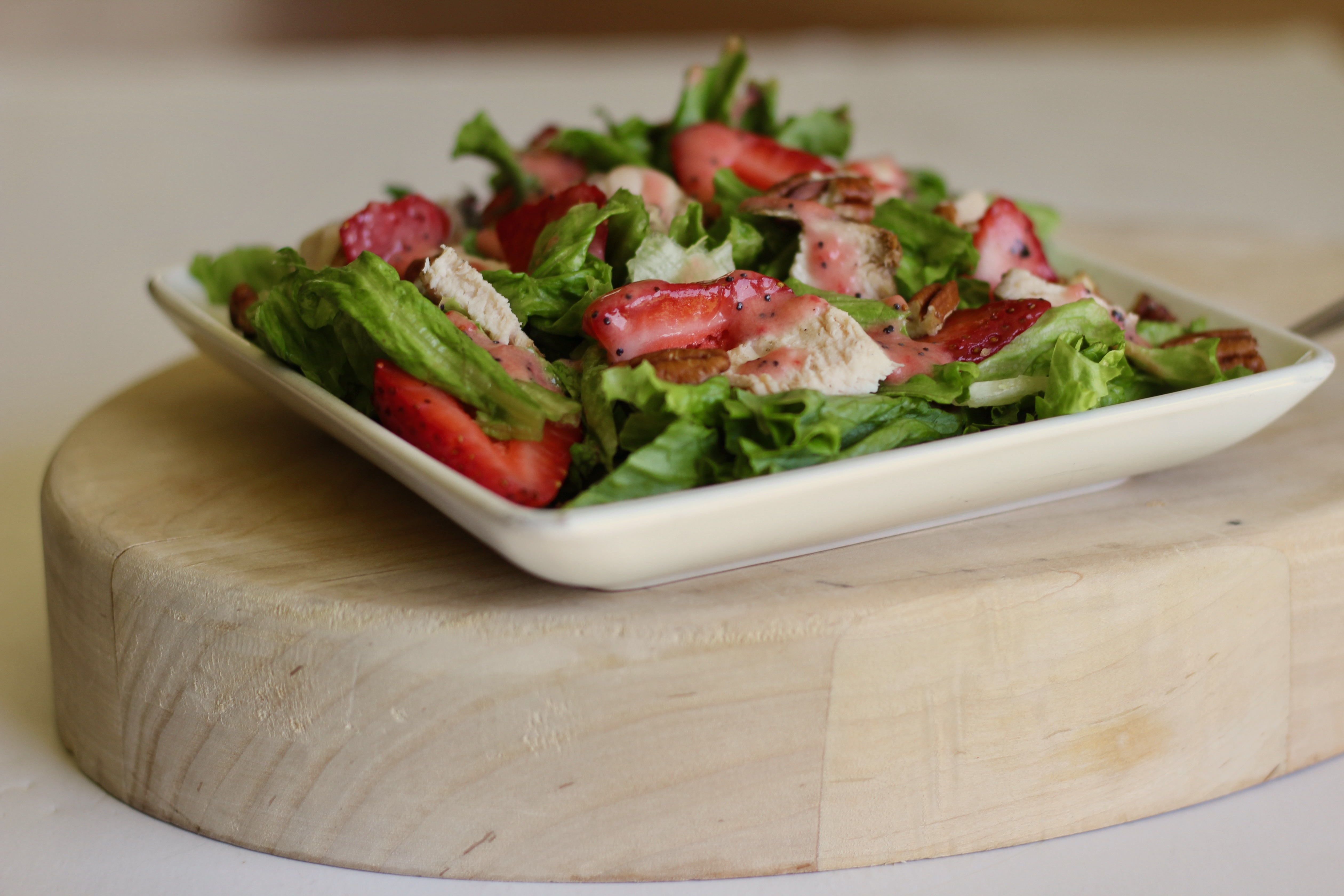 Grilled Chicken Salad with Strawberry Poppy Seed Dressing