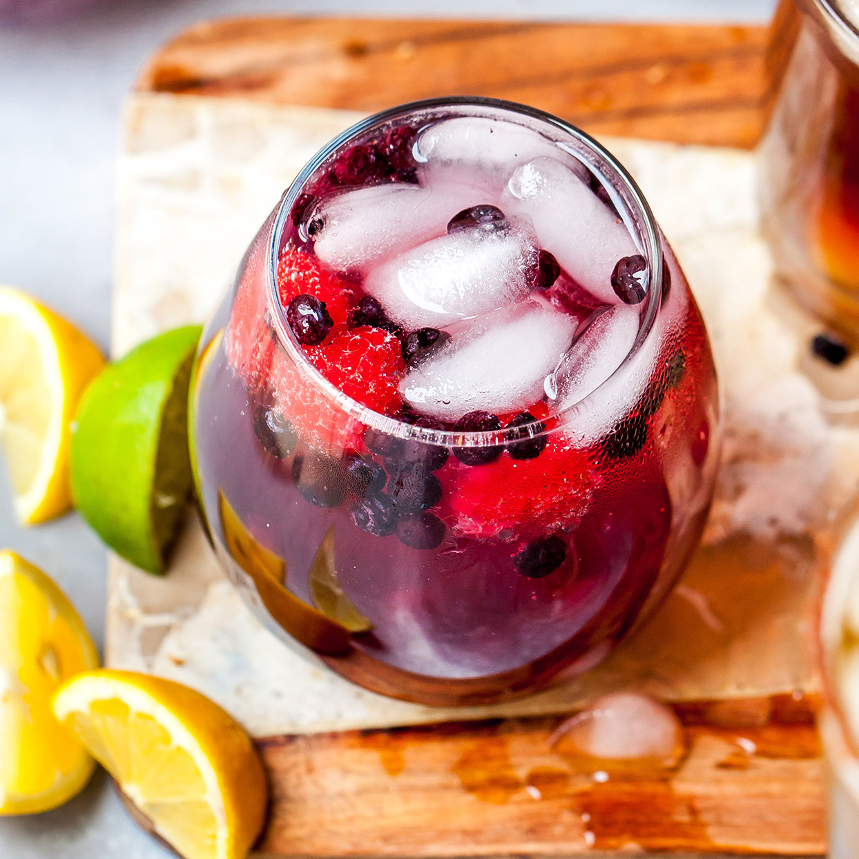 This bright and bubbly sipper combines berries with vodka and seltzer to make a colorful 3-ingredient cocktail you can enjoy year-round, thanks to frozen berries. Amp up the flavor even more by using a flavored seltzer rather than plain!