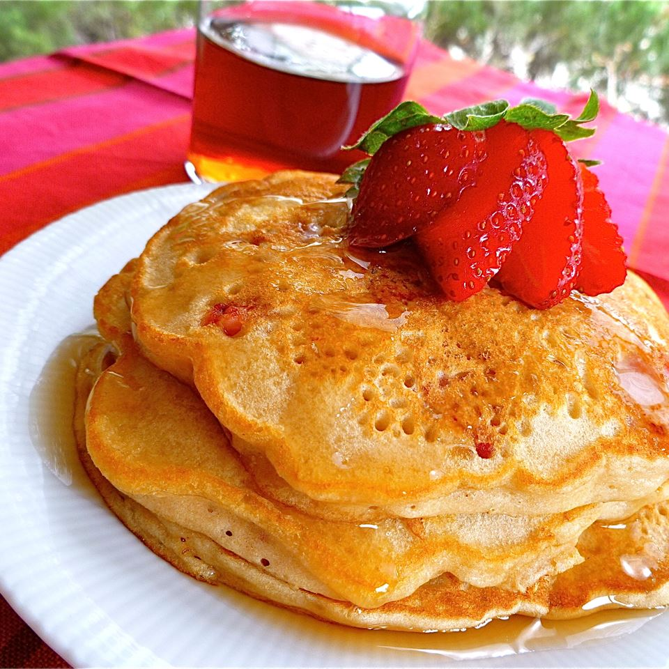 Strawberry Vanilla Pancakes Recipe Allrecipes