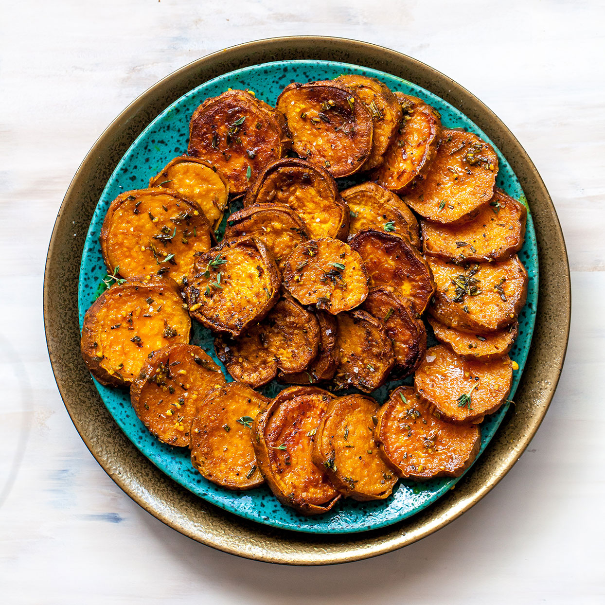 Melting Sweet Potatoes with Herbs & Garlic Carolyn Casner