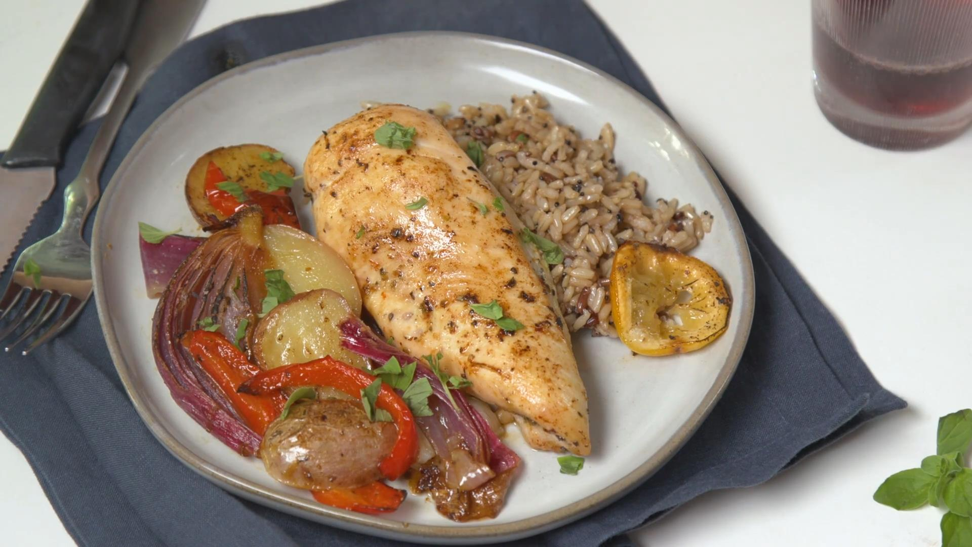 Lemony Mediterranean Chicken