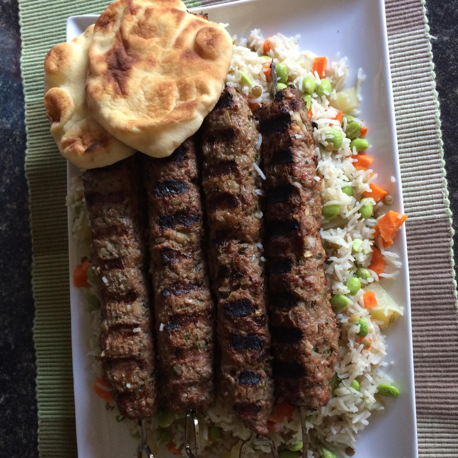 Indian Style Sheekh Kabab shelley