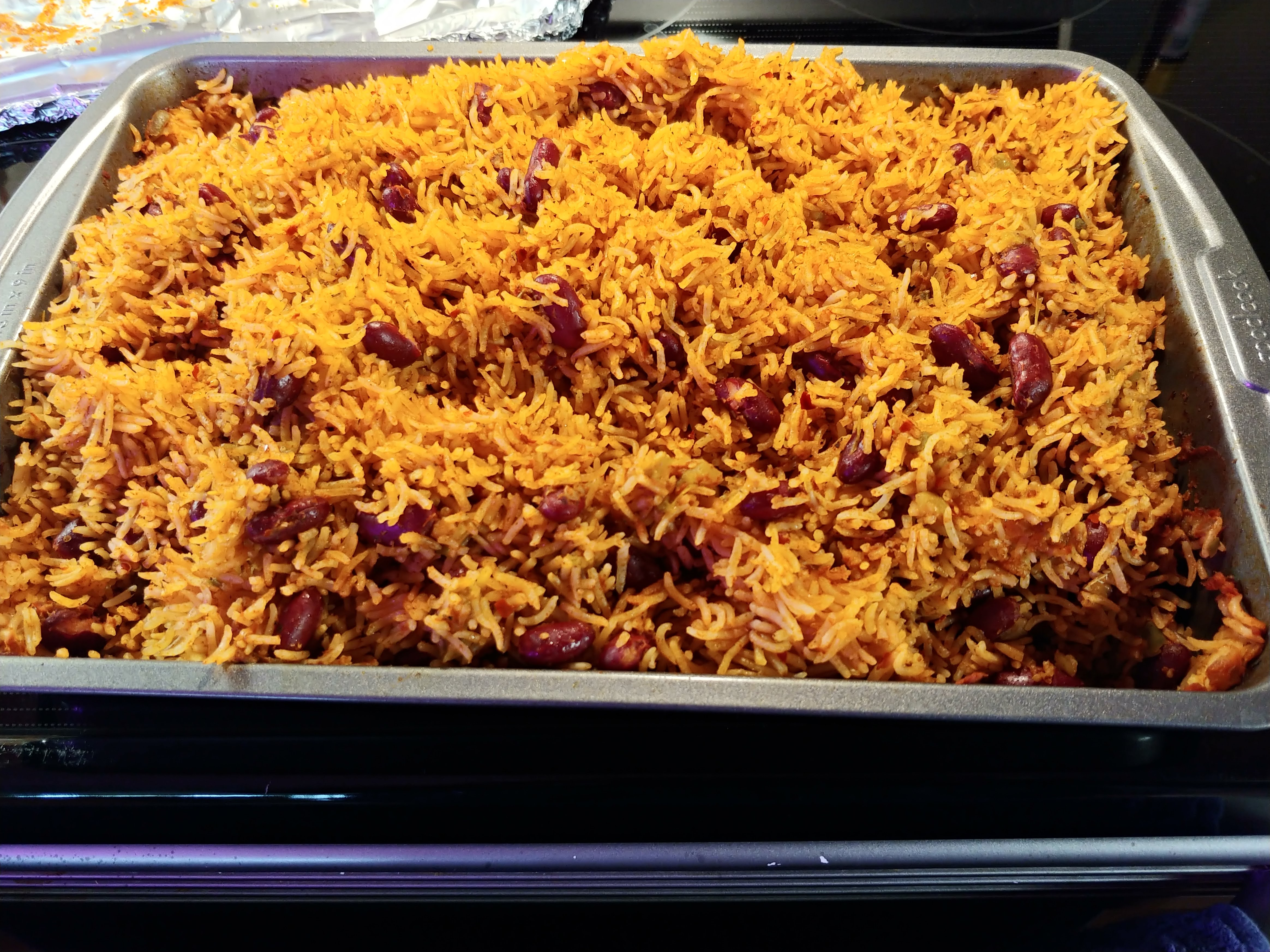The Best Baked Rice and Beans