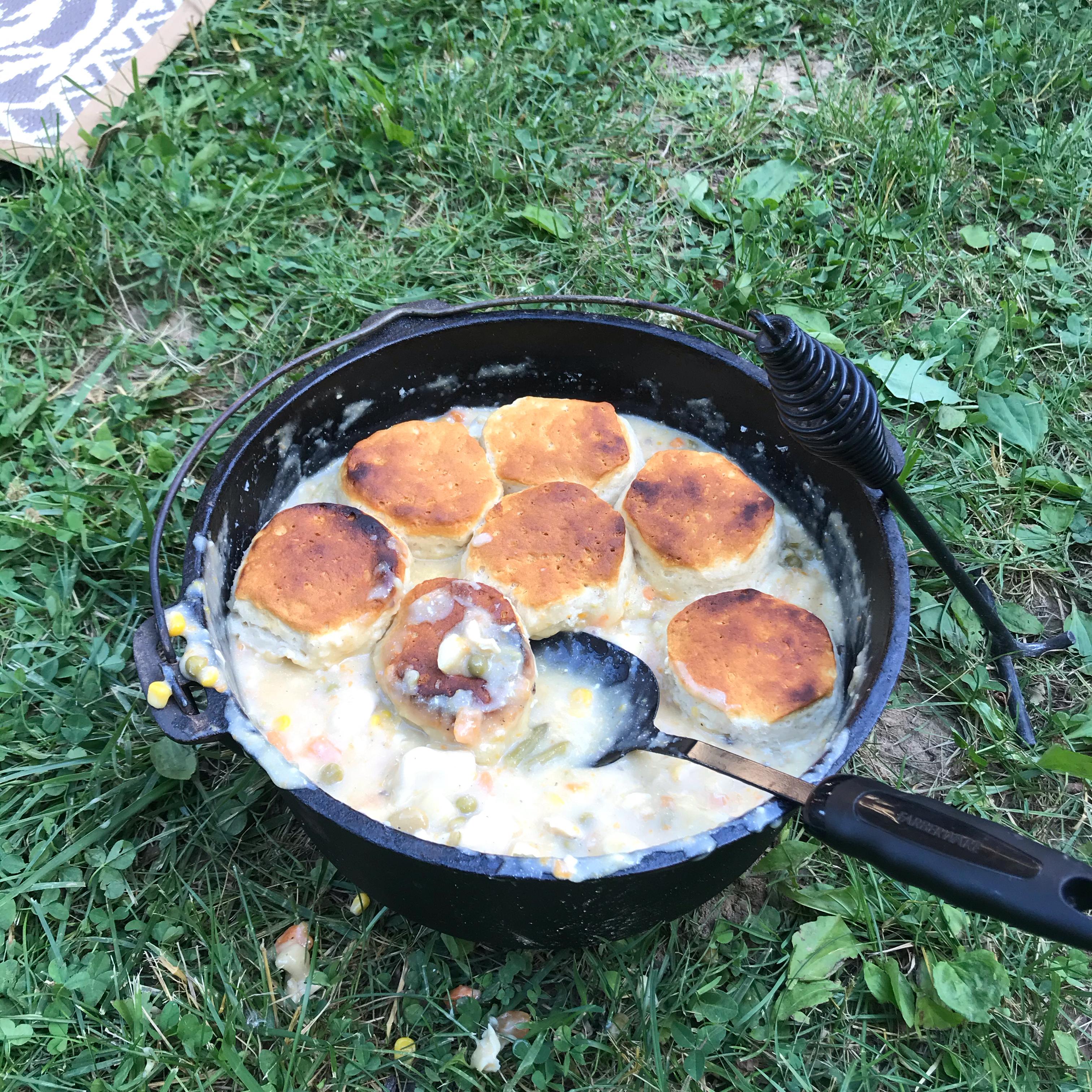 Campfire Chicken Pot Pie dieselboy