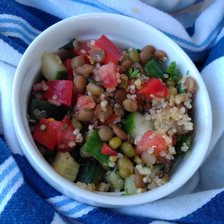 Lentil, Quinoa, and Mung Bean Salad