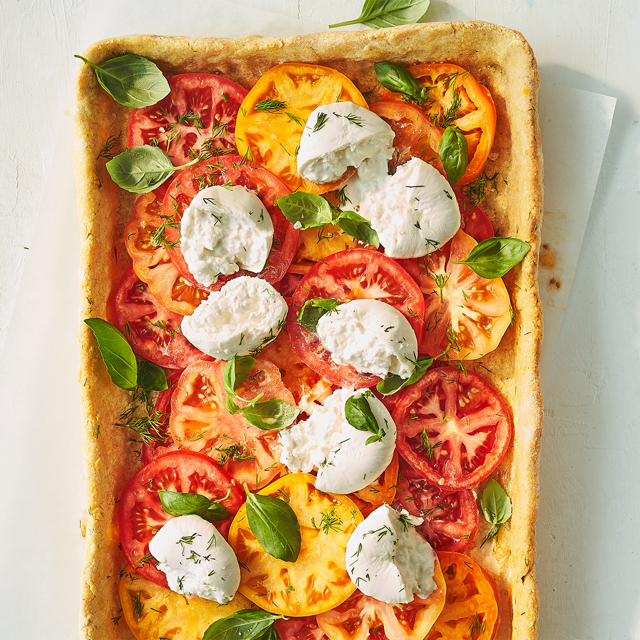 Tomato Tart with Burrata Trusted Brands
