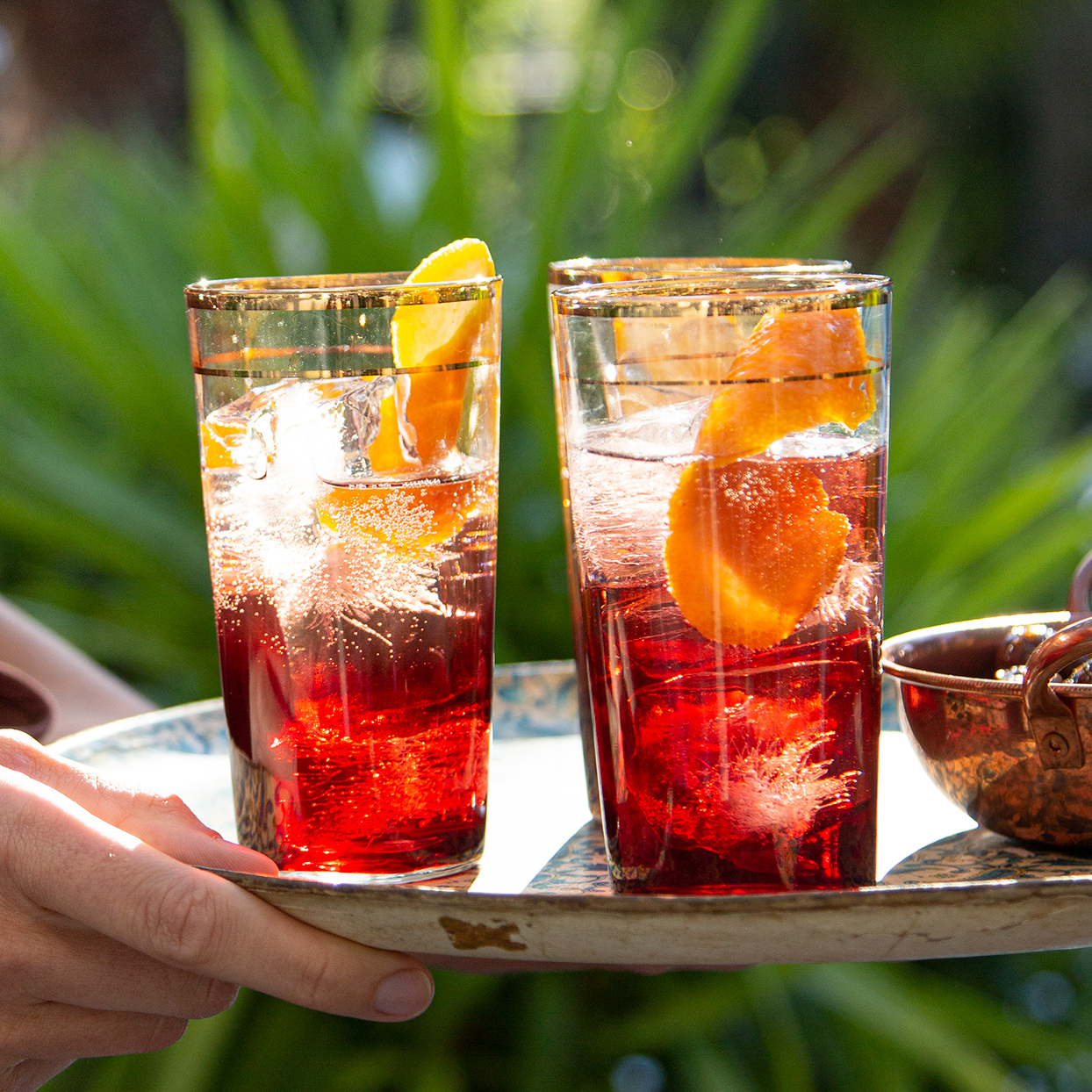 A spritz is a perfect apéro cocktail, refreshing and low-alcohol. It opens the palate instead of overwhelming it, making it an ideal pairing with whatever delicious snacks you are serving.