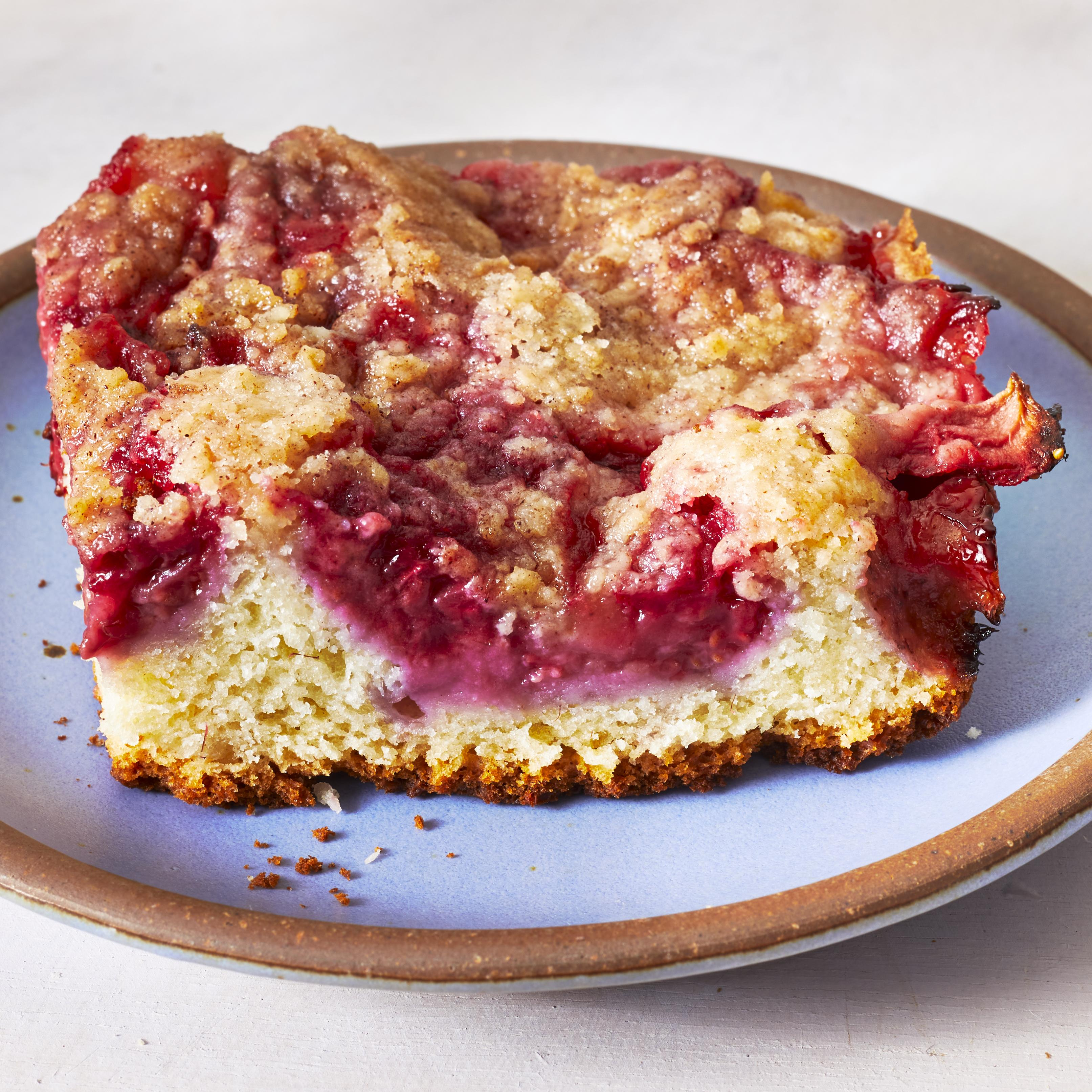 Raspberry and Strawberry Buckle Allrecipes Trusted Brands