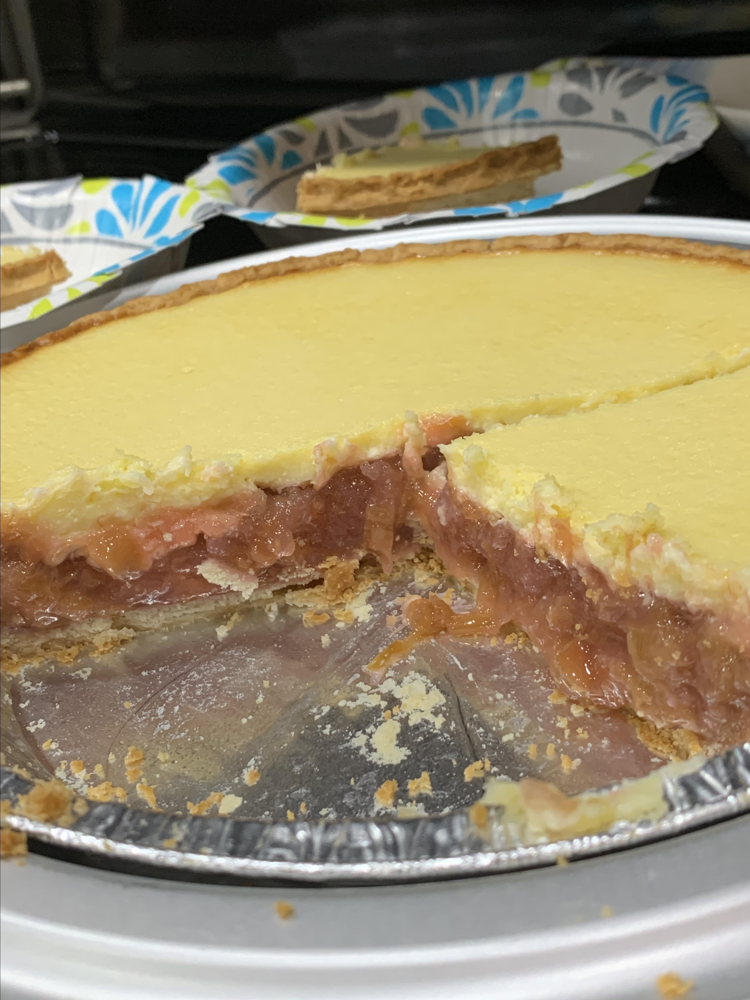 Rhubarb Cheesecake Pie Charlene Baker