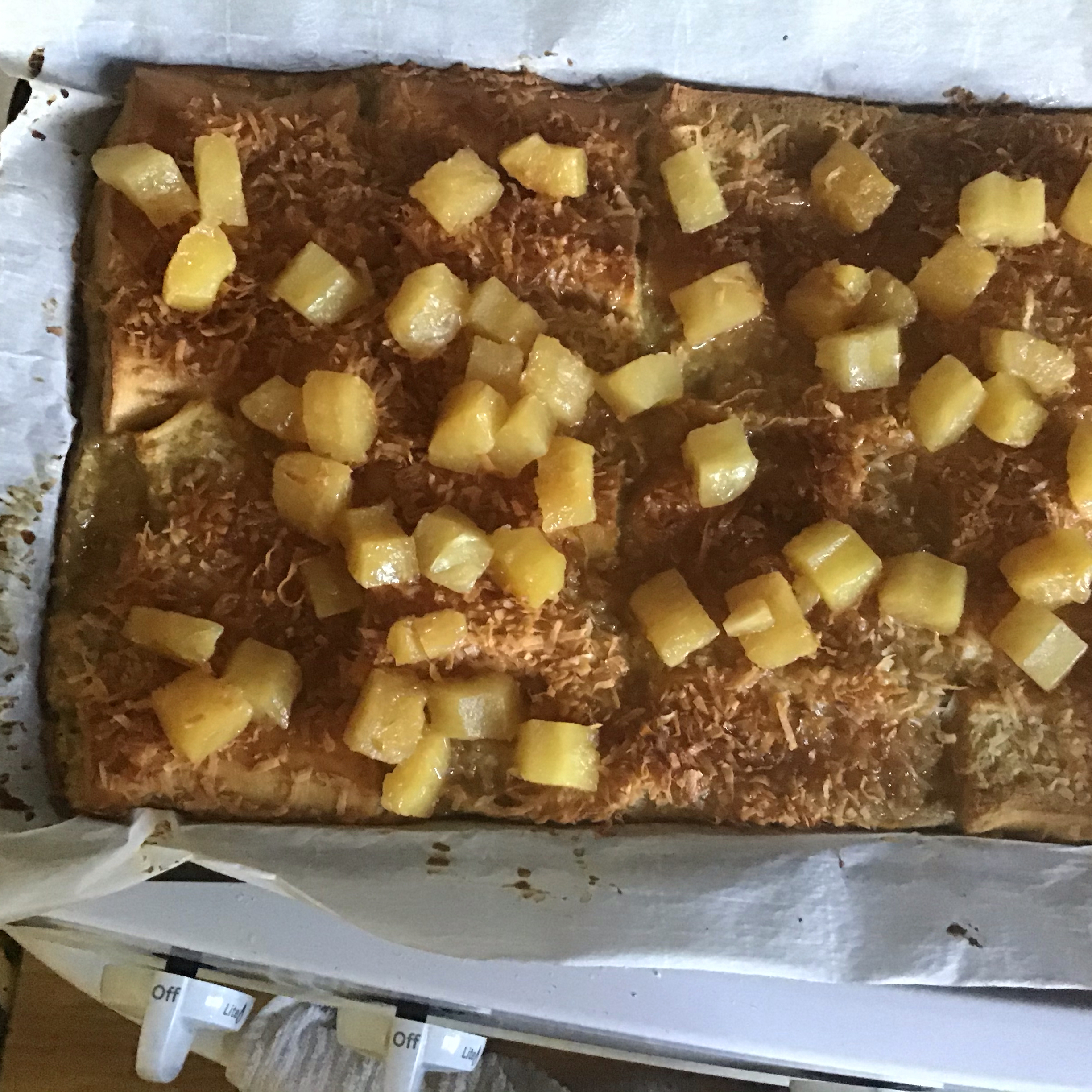 Baked Coconut French Toast with Pineapple-Rum Sauce cicero