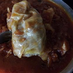 Sweet and Sour Stuffed Cabbage