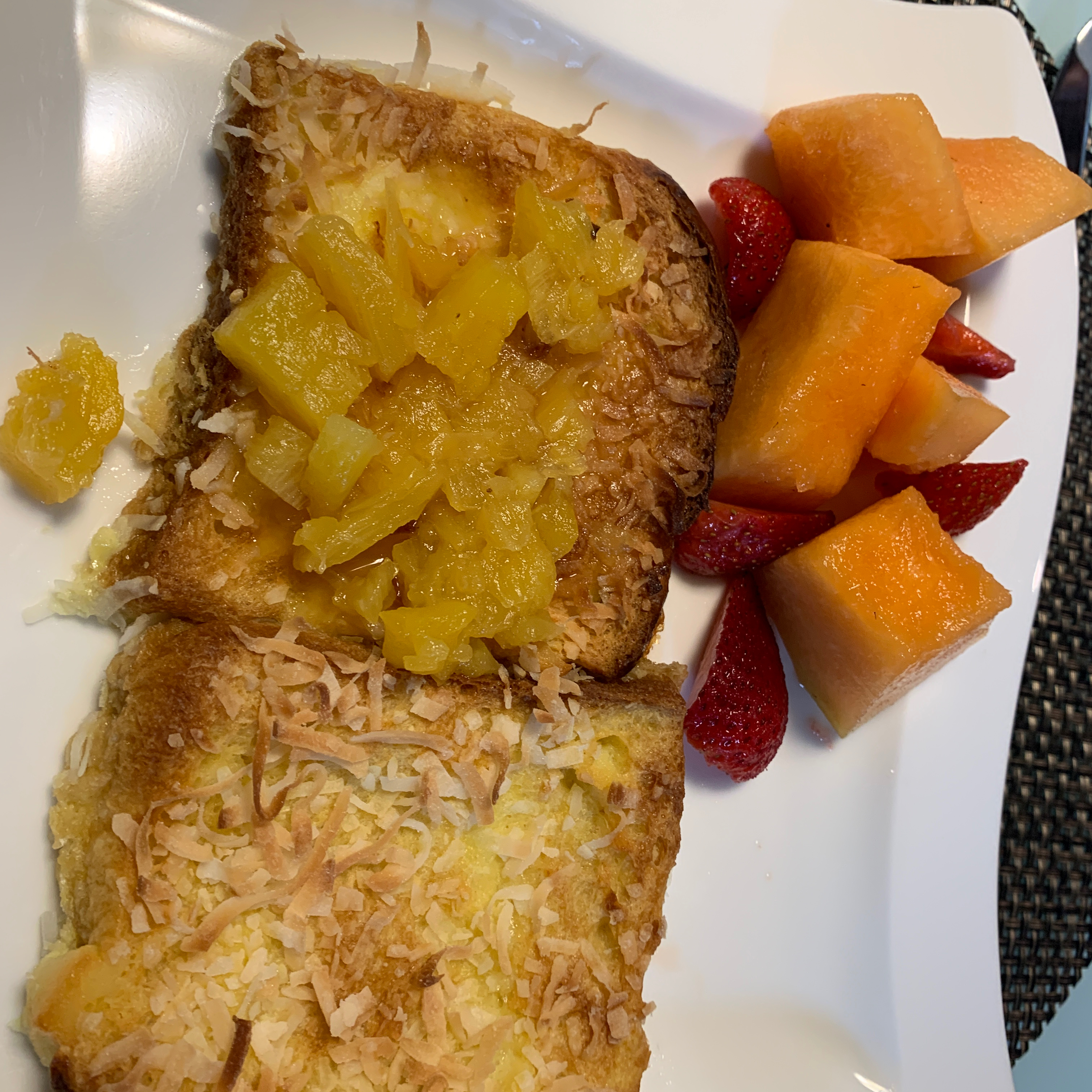 Baked Coconut French Toast with Pineapple-Rum Sauce Bryan Levy