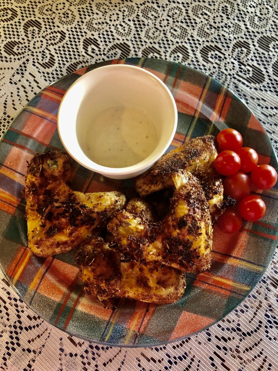 Air Fryer Herb-Seasoned Chicken Wings