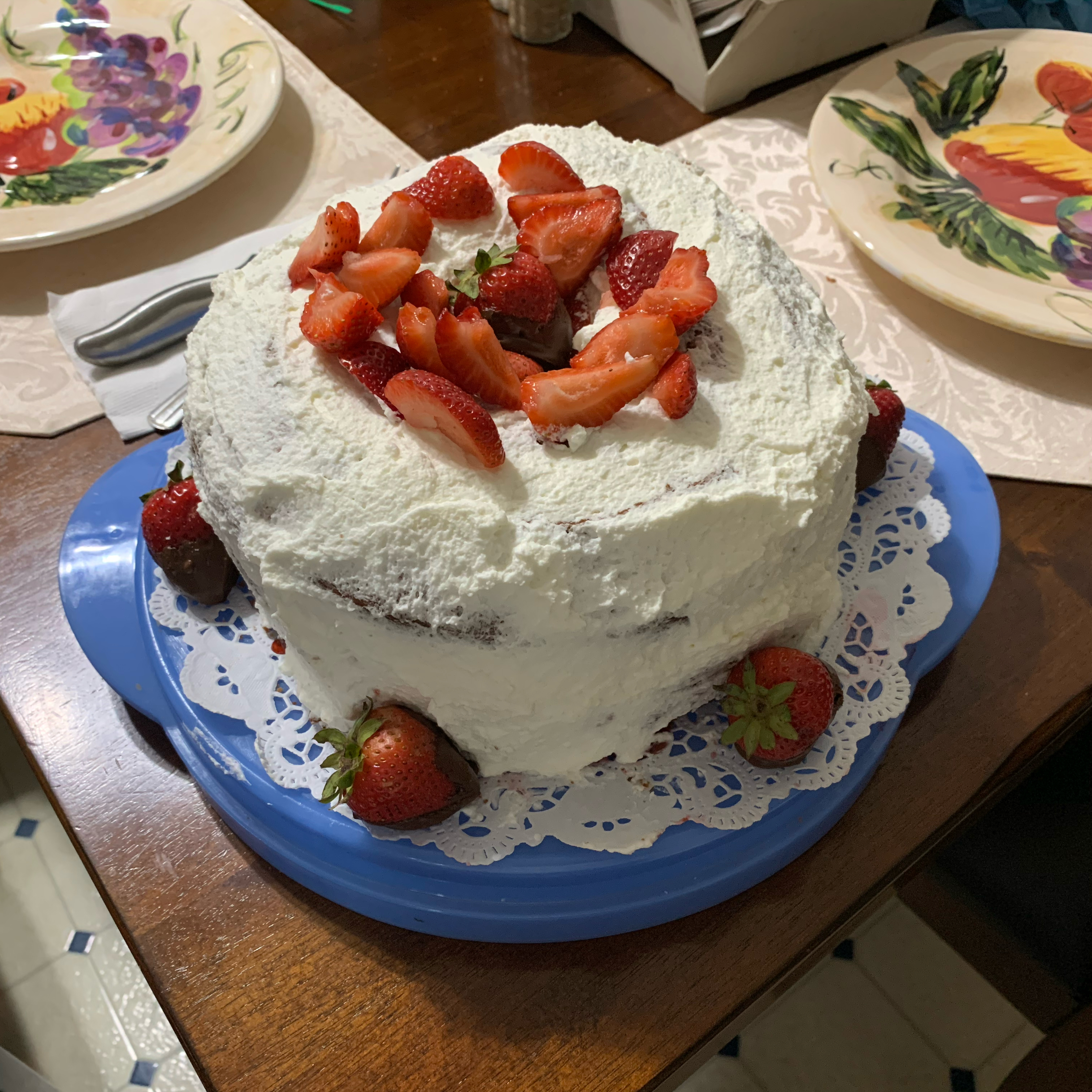 Frosted Strawberry Shortcake