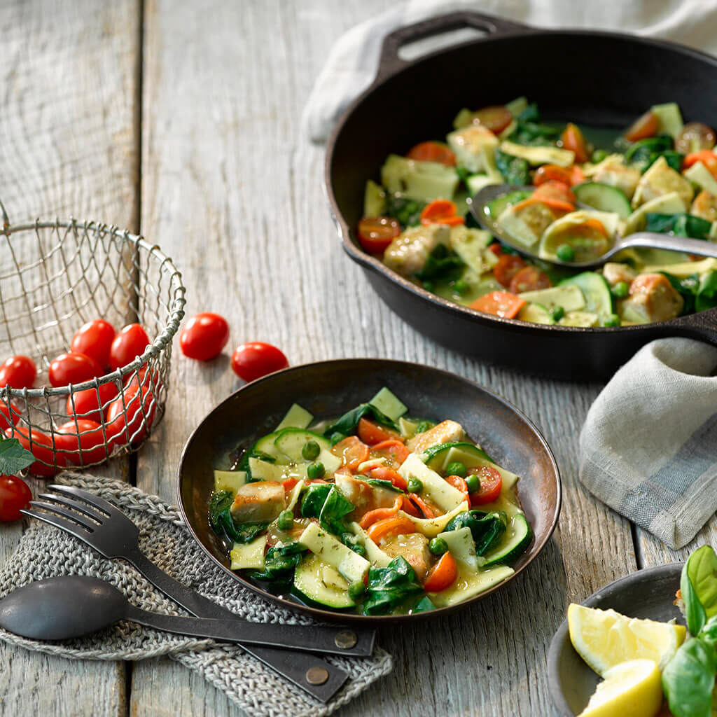 Summer Chicken and Vegetable Skillet