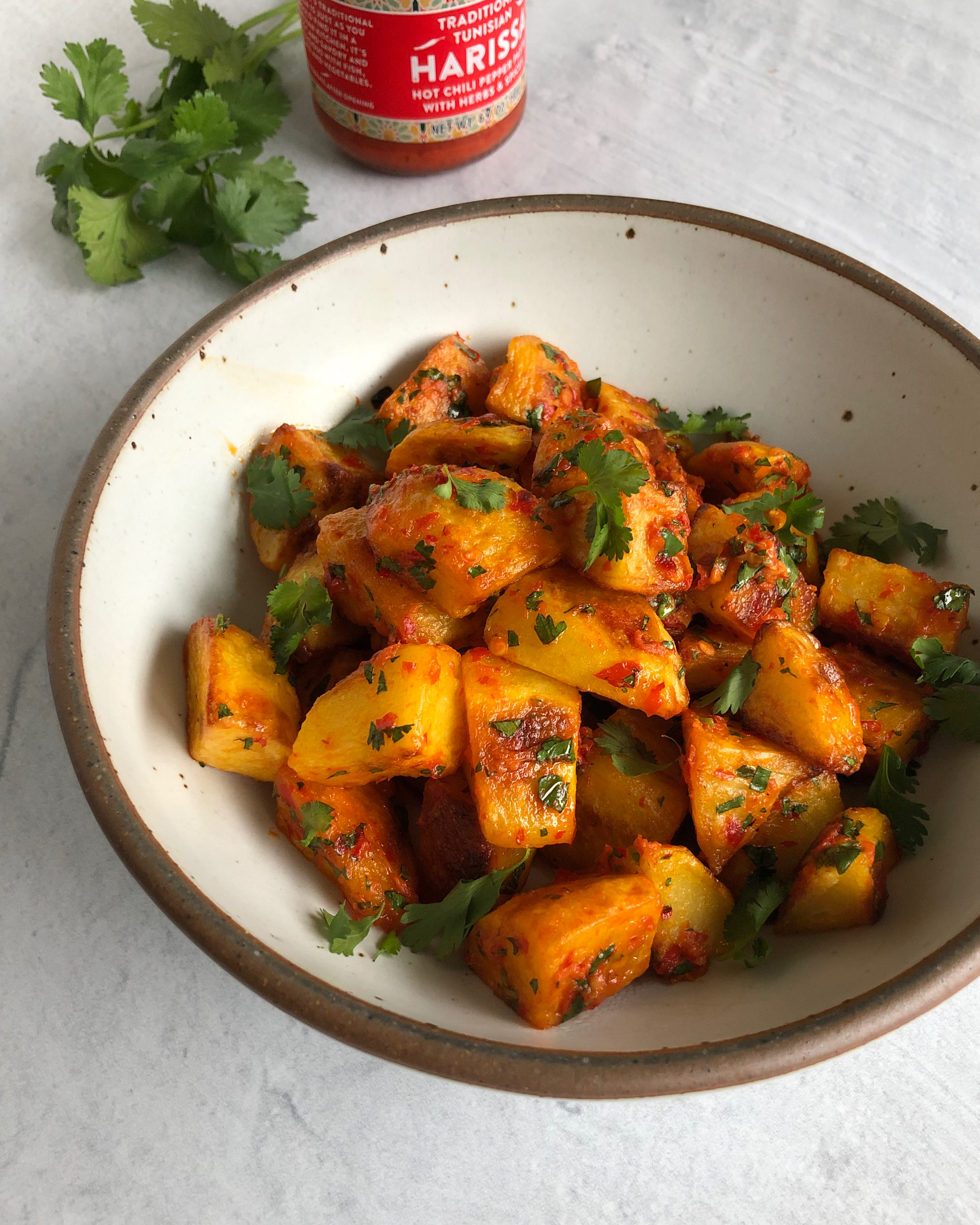 Roasted Potatoes with Harissa Butter