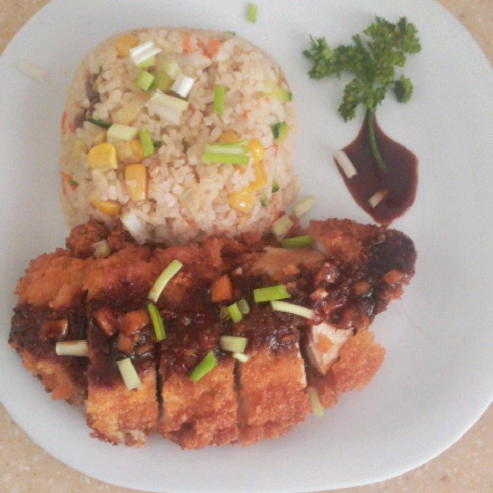 Air Fryer Chicken Katsu with Homemade Katsu Sauce Celeste Andrews