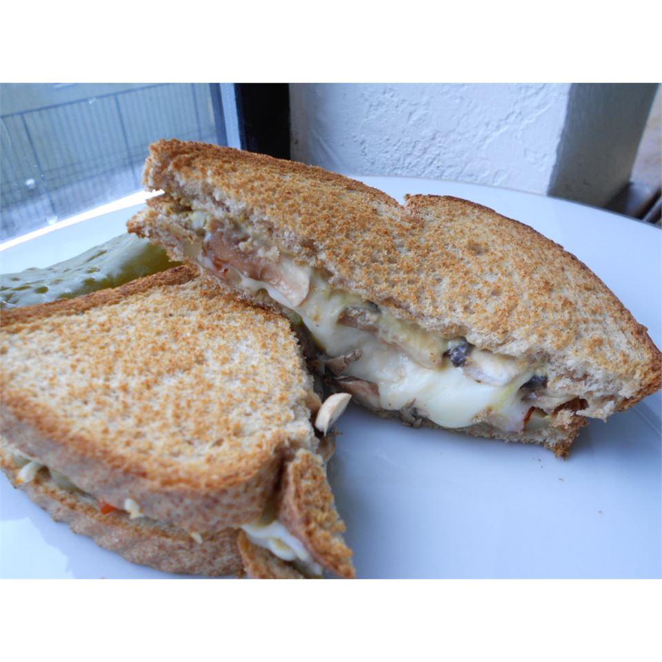 Hot Portobello Mushroom Sandwich kellieann