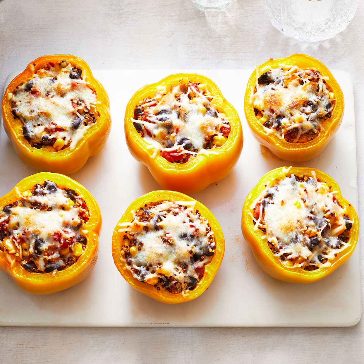 Vegetarian Quinoa-Stuffed Peppers