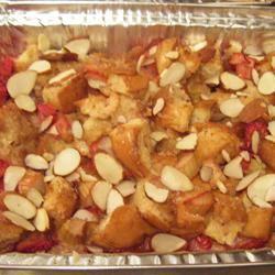 Fresh Rhubarb Bread Pudding