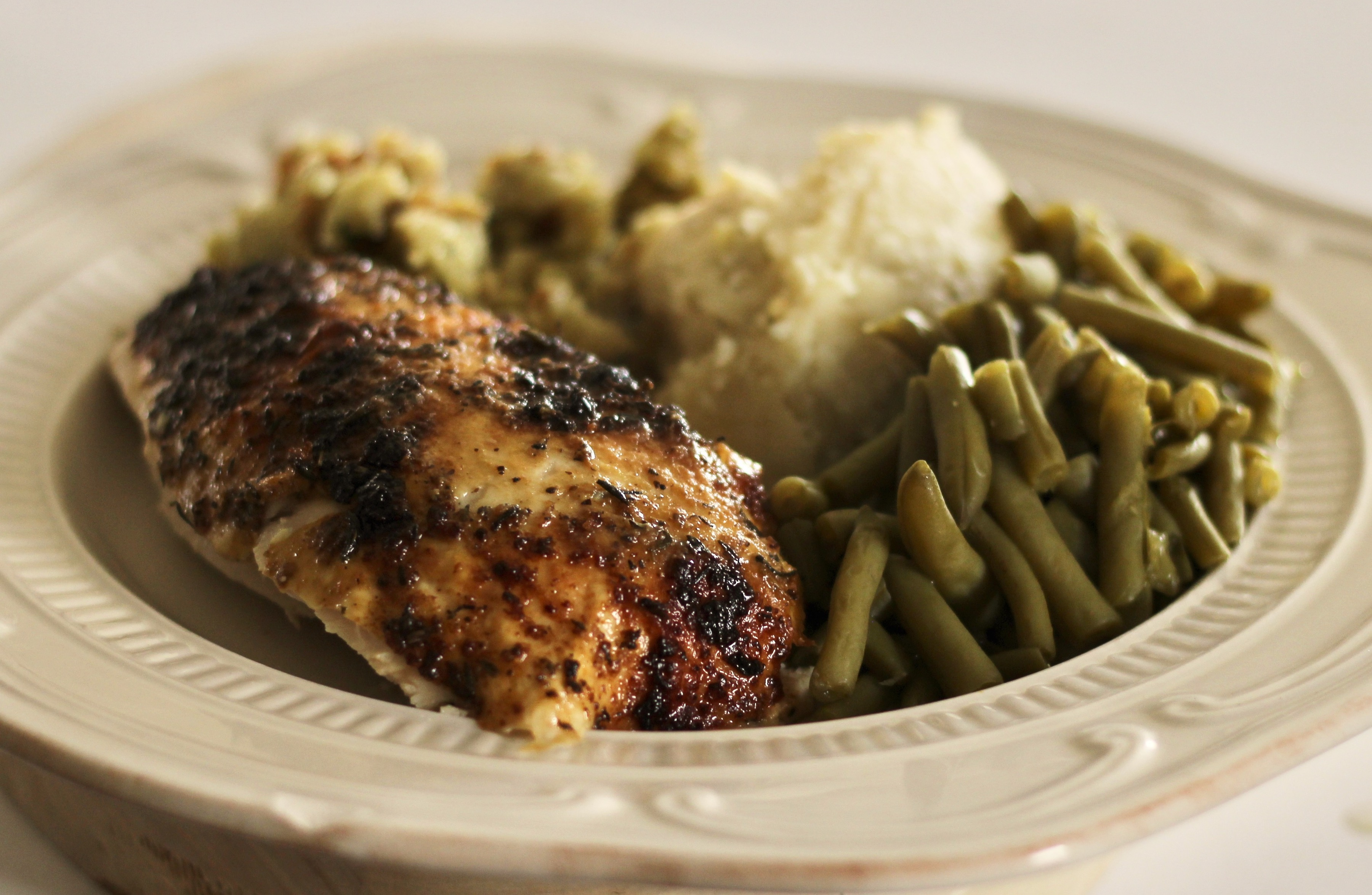 Lemon-Pepper Roast Chicken