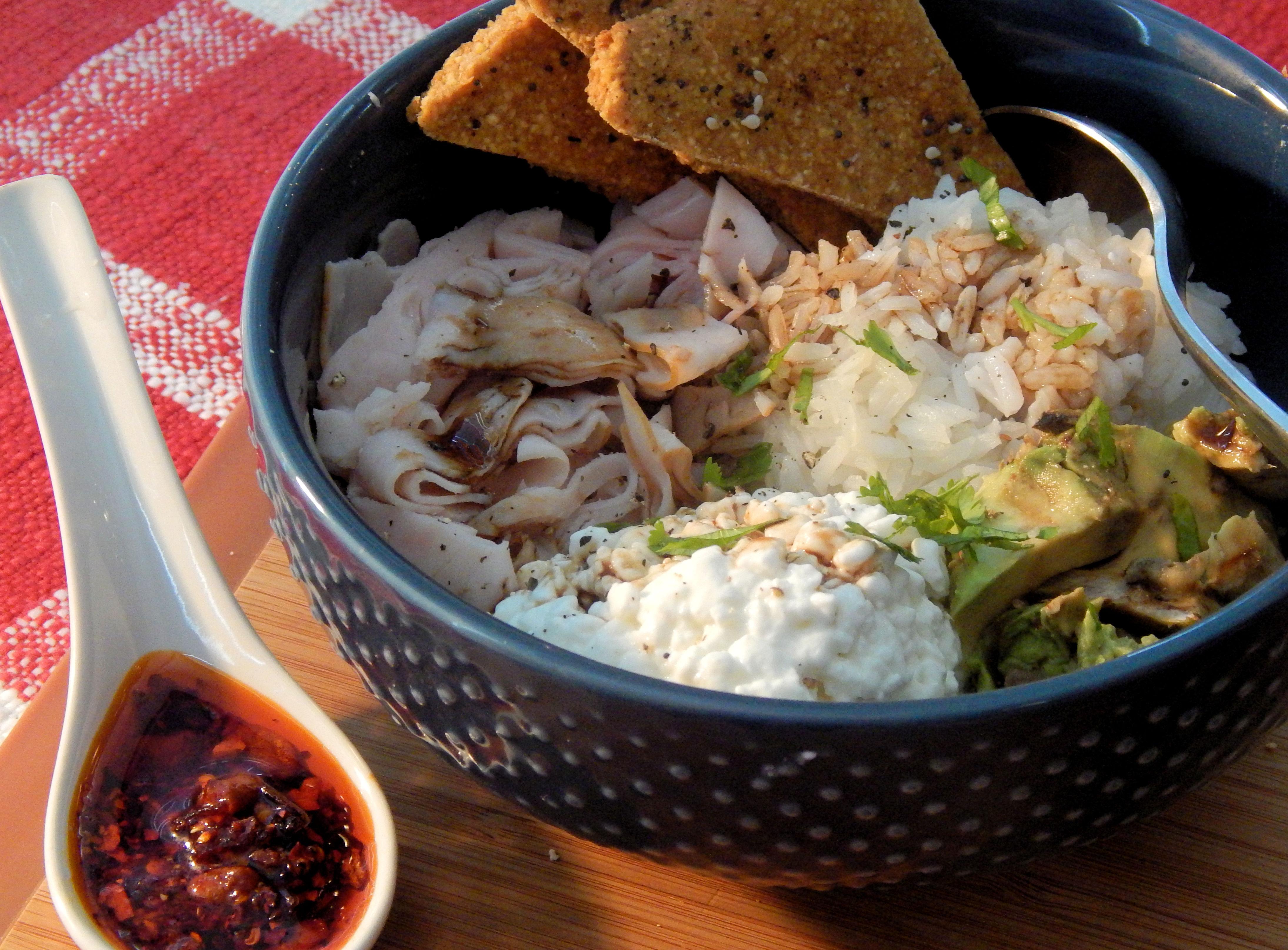 Avocado-Turkey Rice Bowl