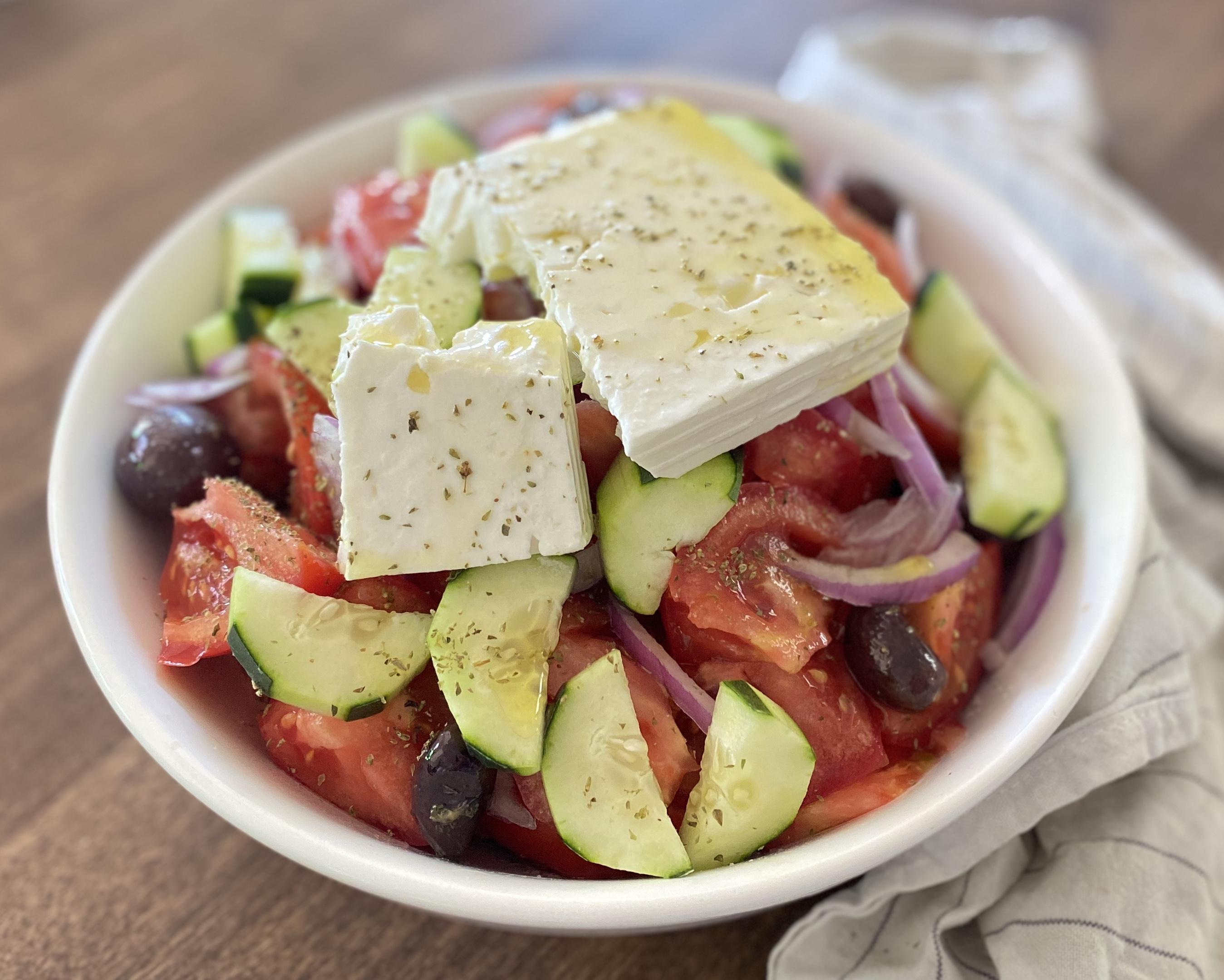 Greek Horiatiki Salad Diana Moutsopoulos