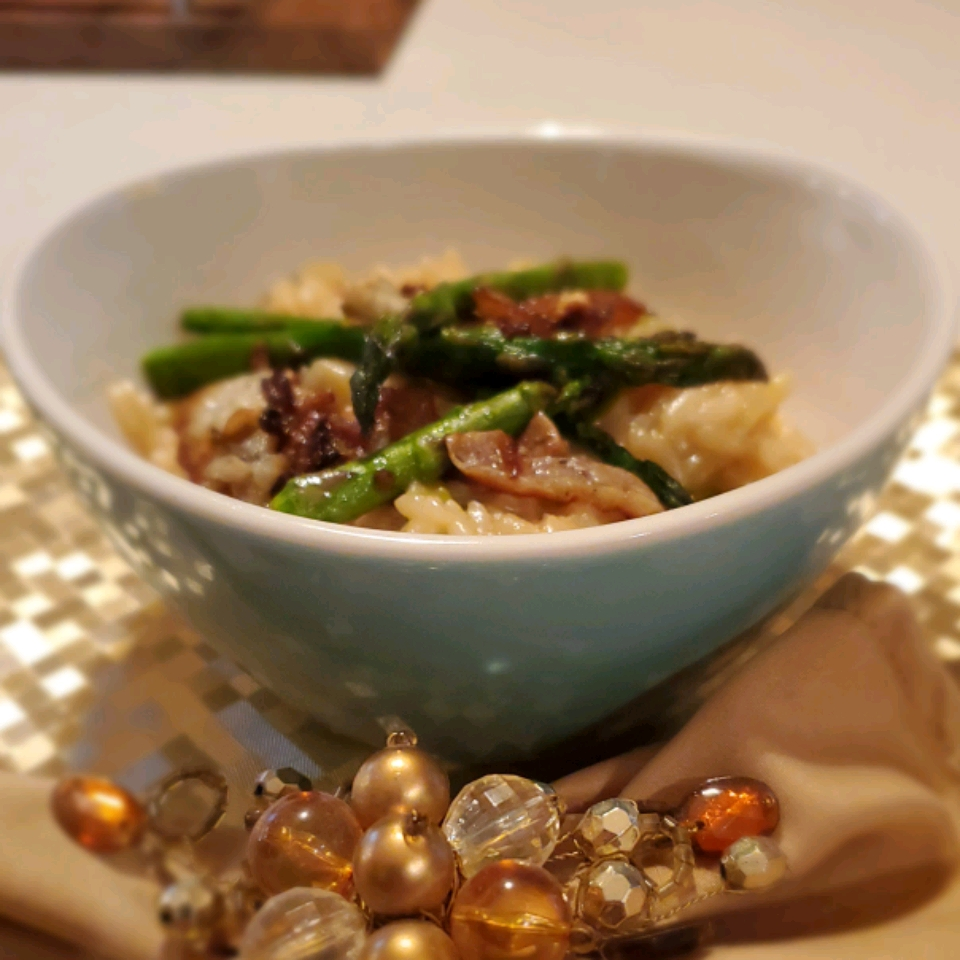 Asparagus and Morel Risotto Cherry_Chiclet